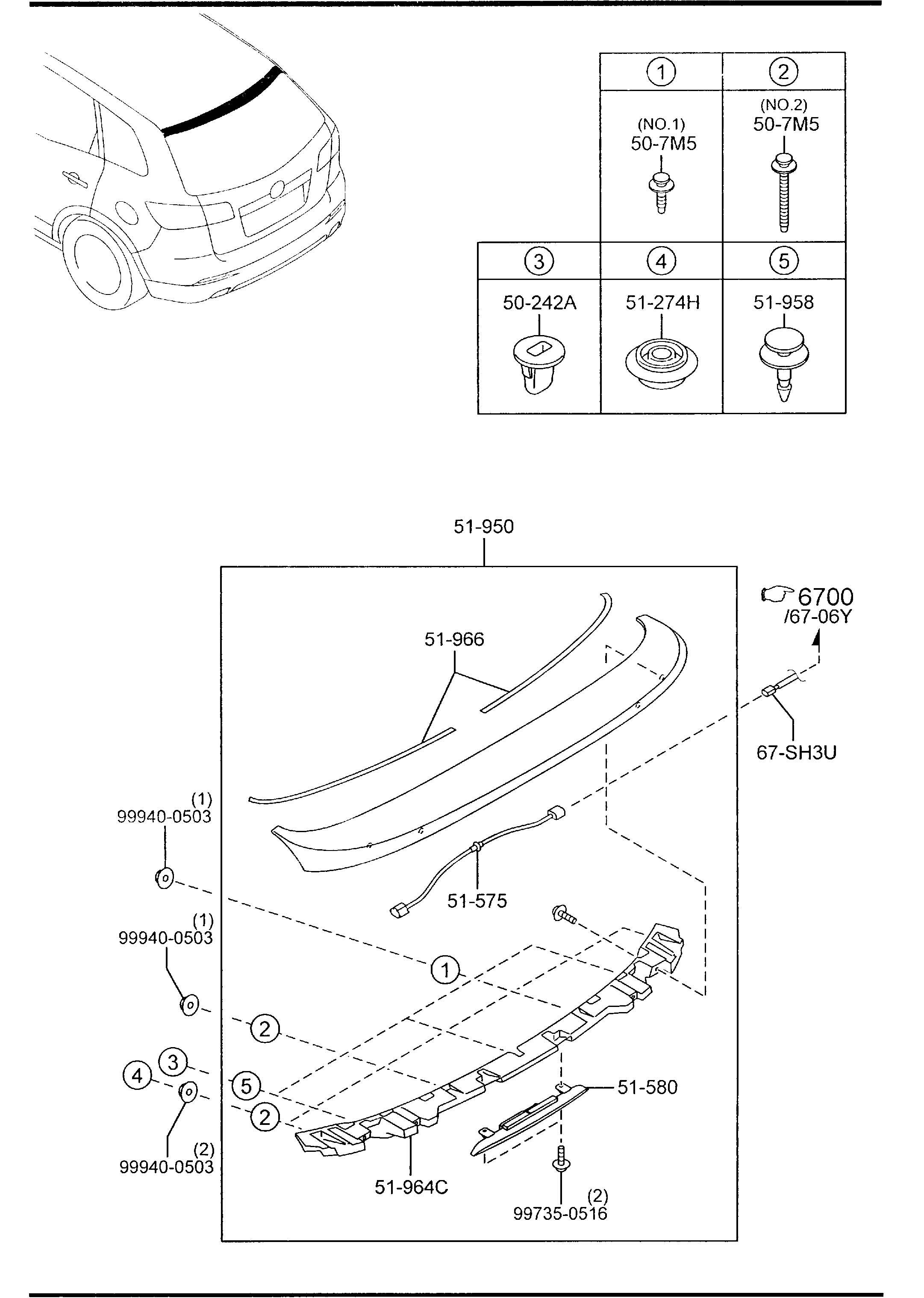 Mazda Cx 9 Bracket Rear Spoiler