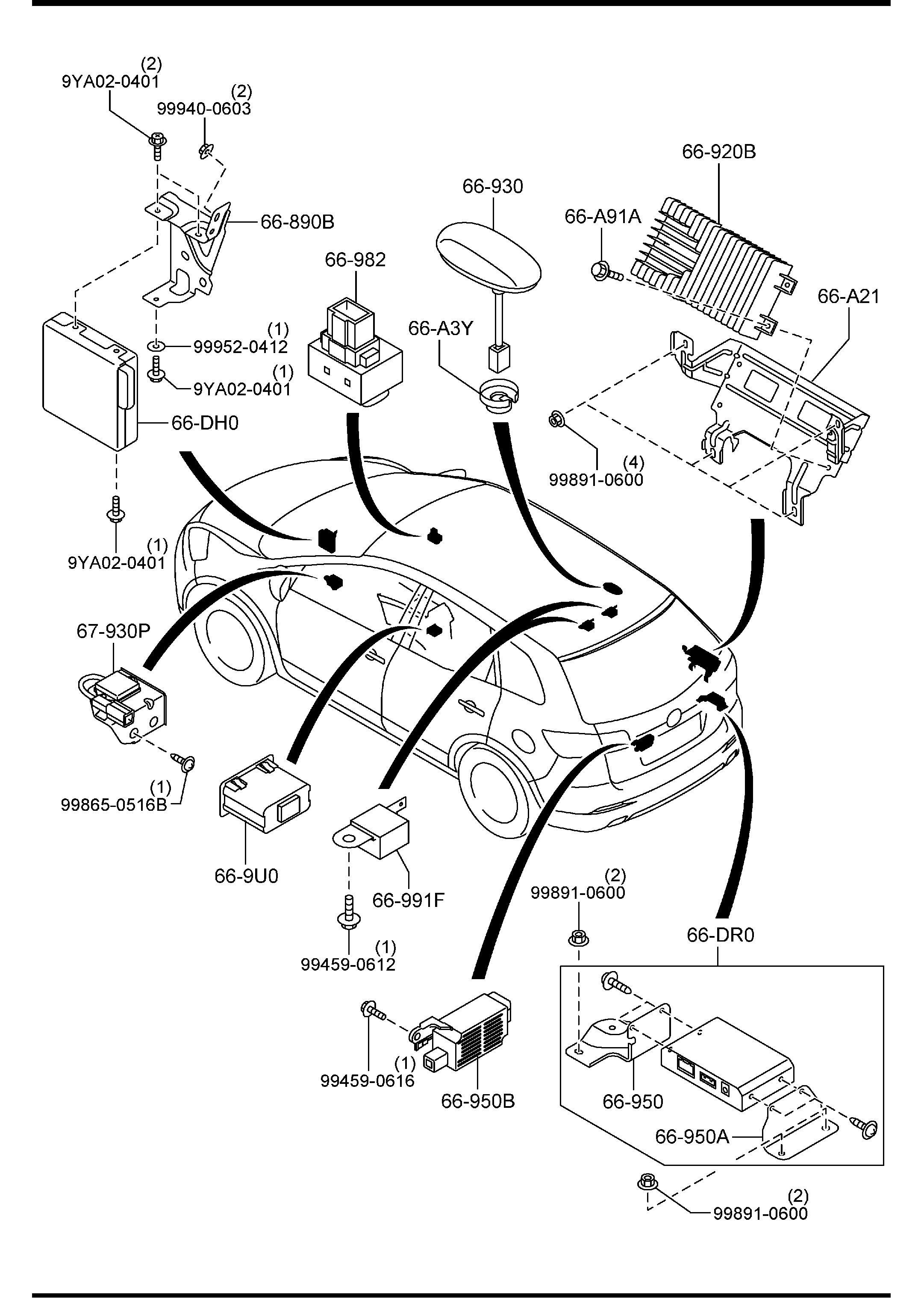 Mazda Cx 9 Speaker Bose 2 0 Ohm Wpremium Premium