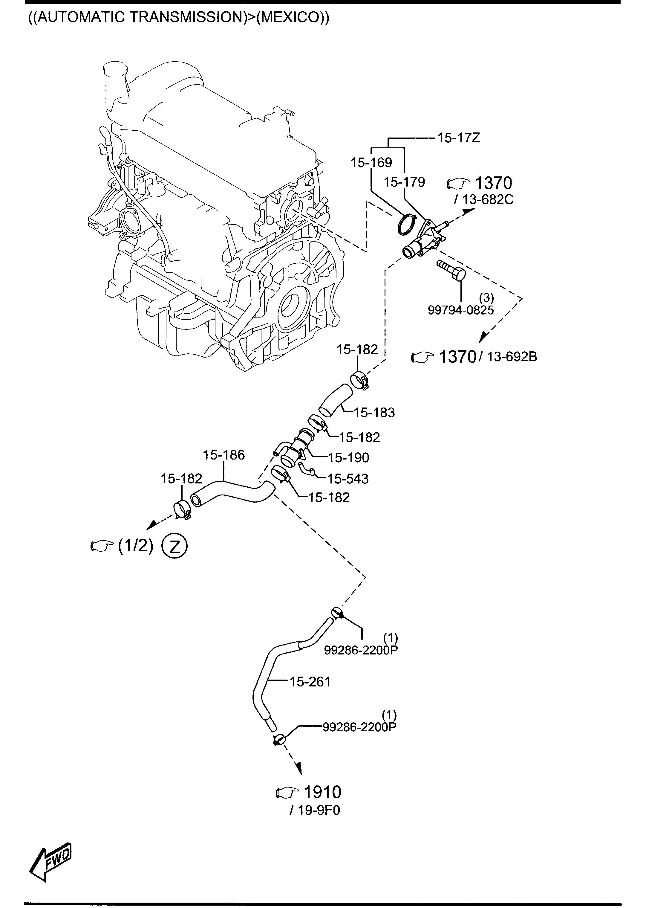 Mazda Thermostat W Gasket Wgasket
