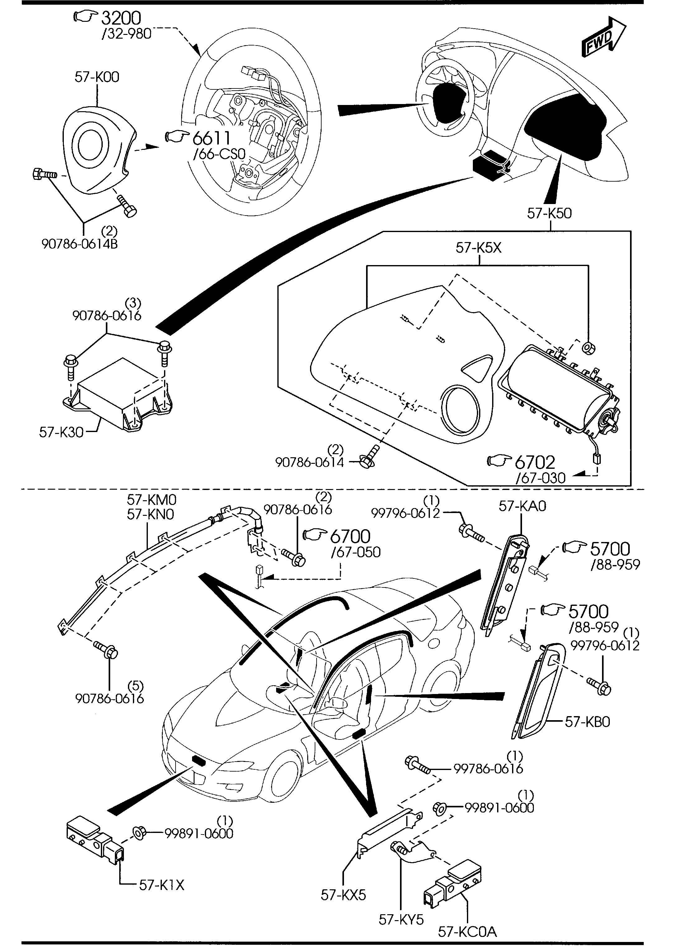 Mazda Rx 8 Door Air Bag