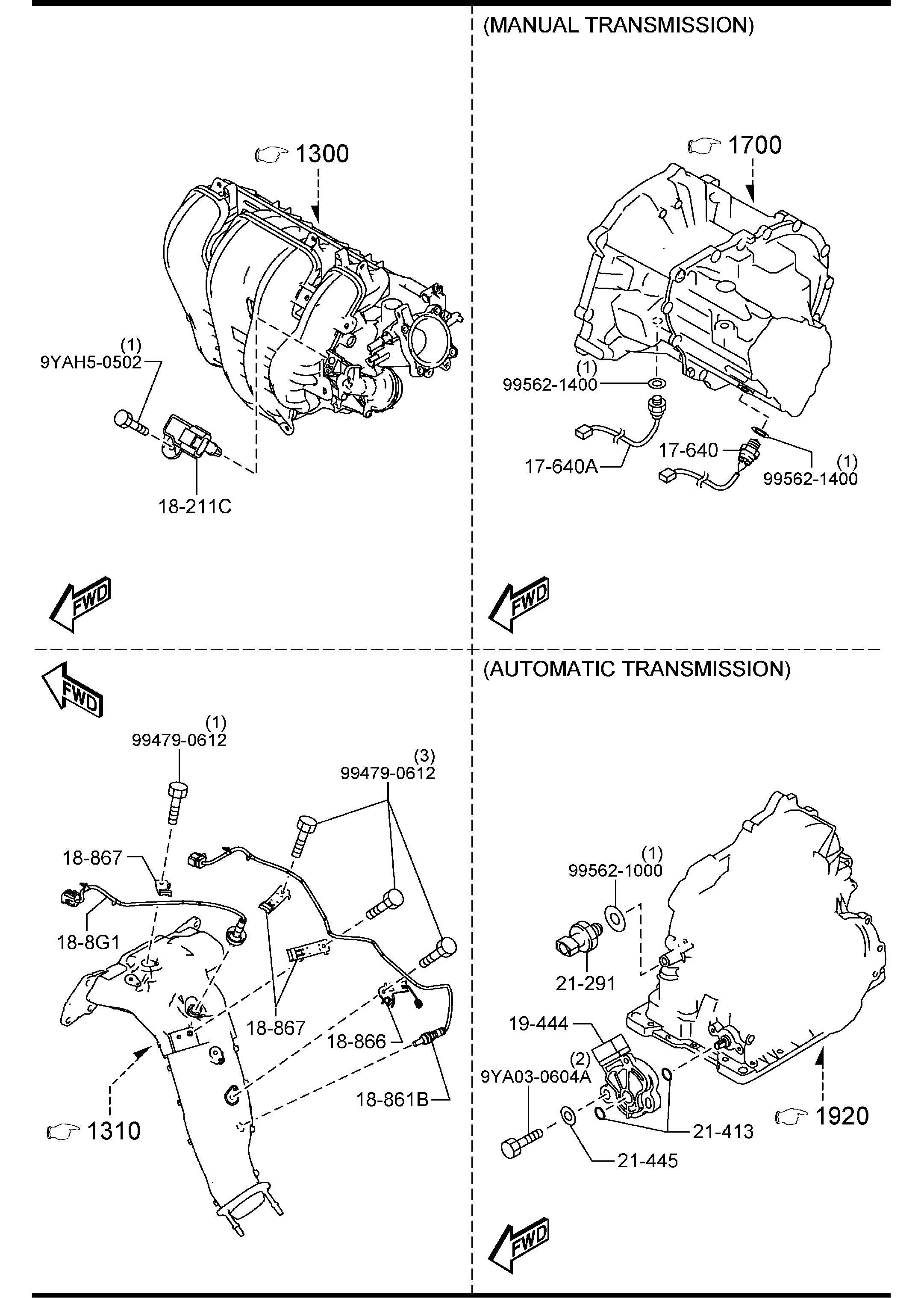 Mazda Mazda 6 Switch Oil Pressure
