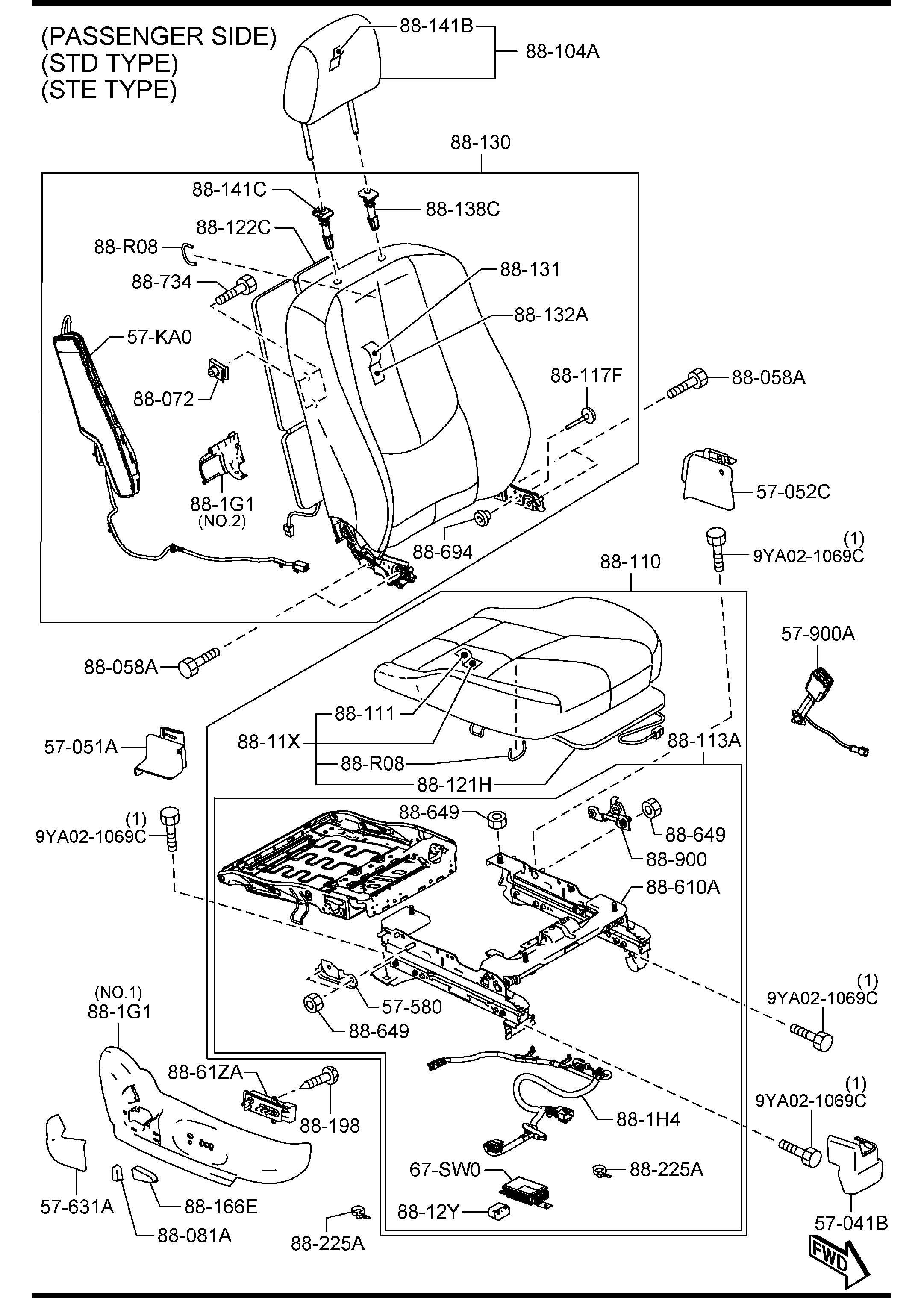 Mazda Mazda 6 Knob Lumbar Round