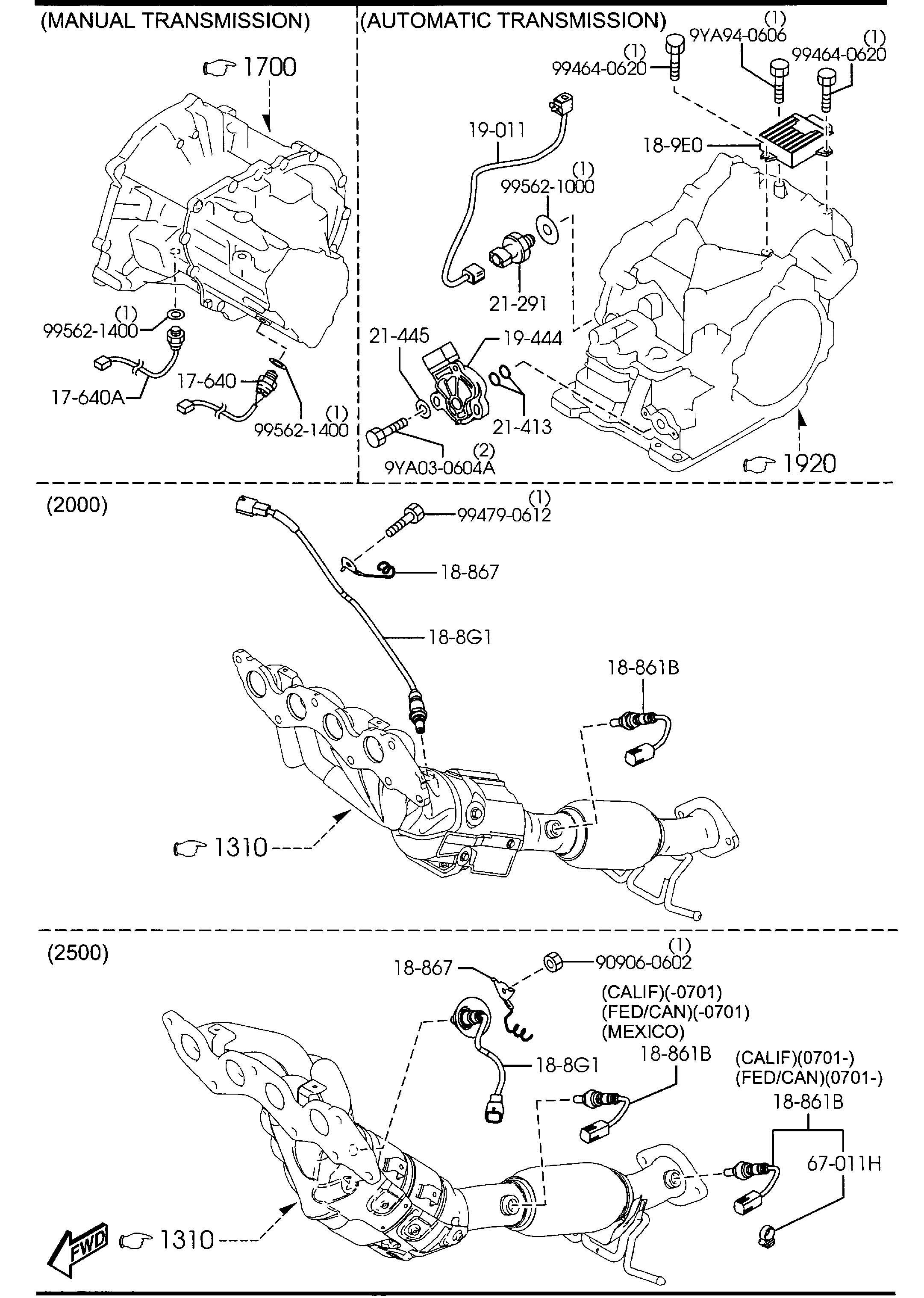 Mazda Mazda 3 Sensor Knock