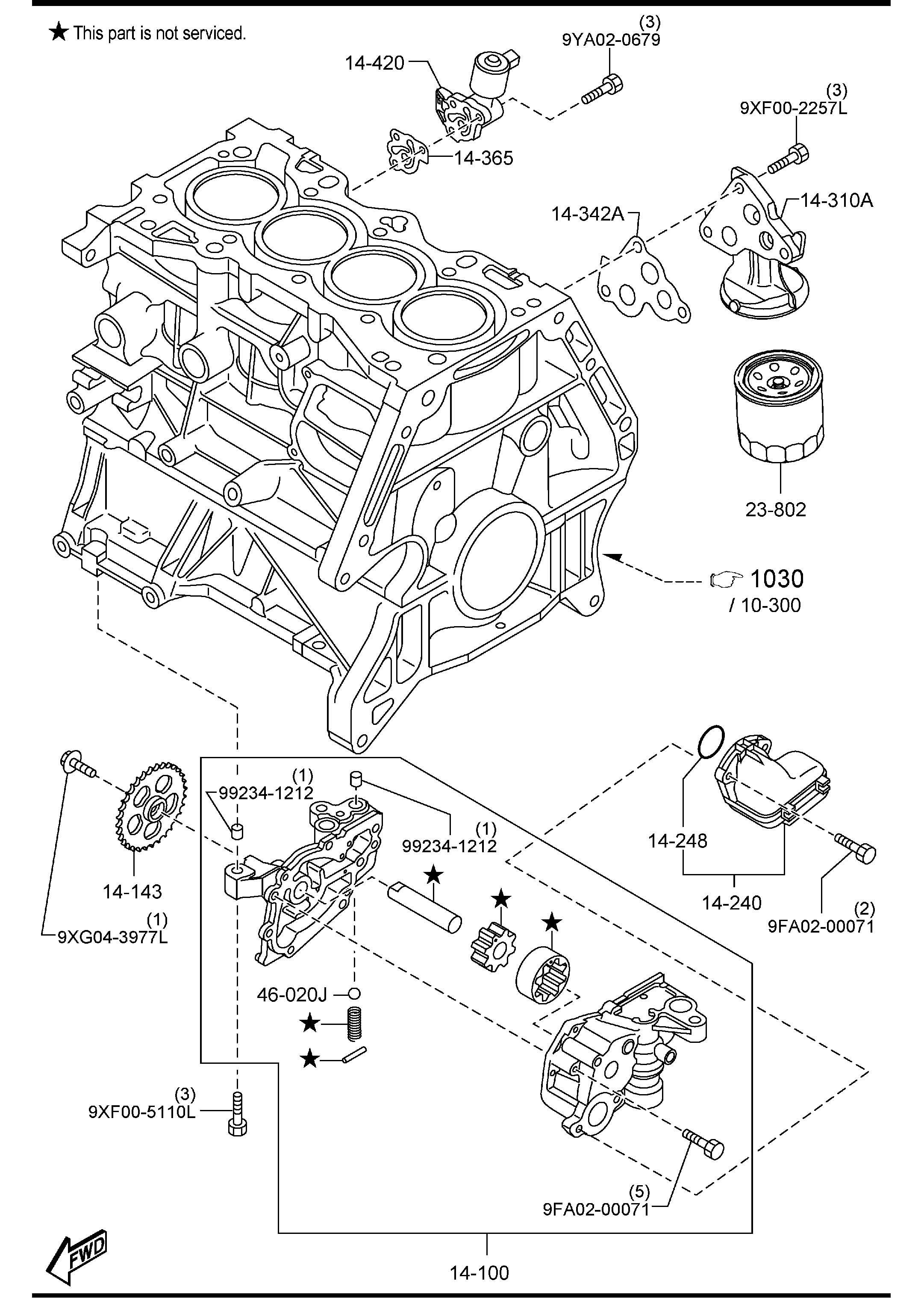 Mazda Mazda 3 Cartridge Oil Filter Marktroki