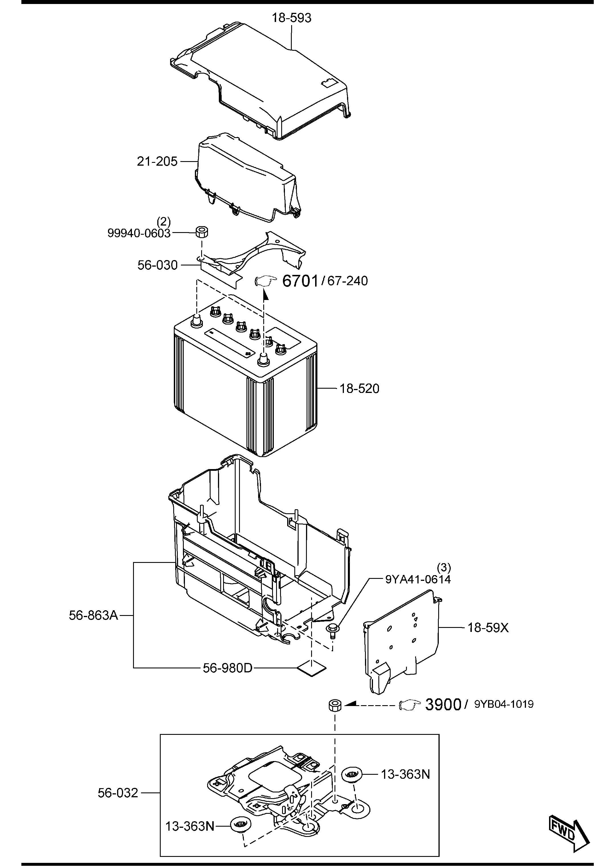 Mazda Mazda 3 Battery Panasonic Selection Supplier