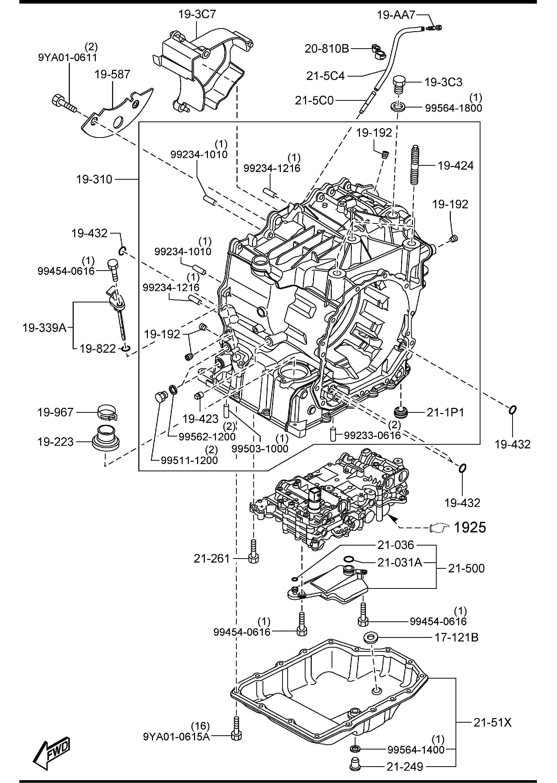 Mazda Mazda 3 Cap Transmission Case