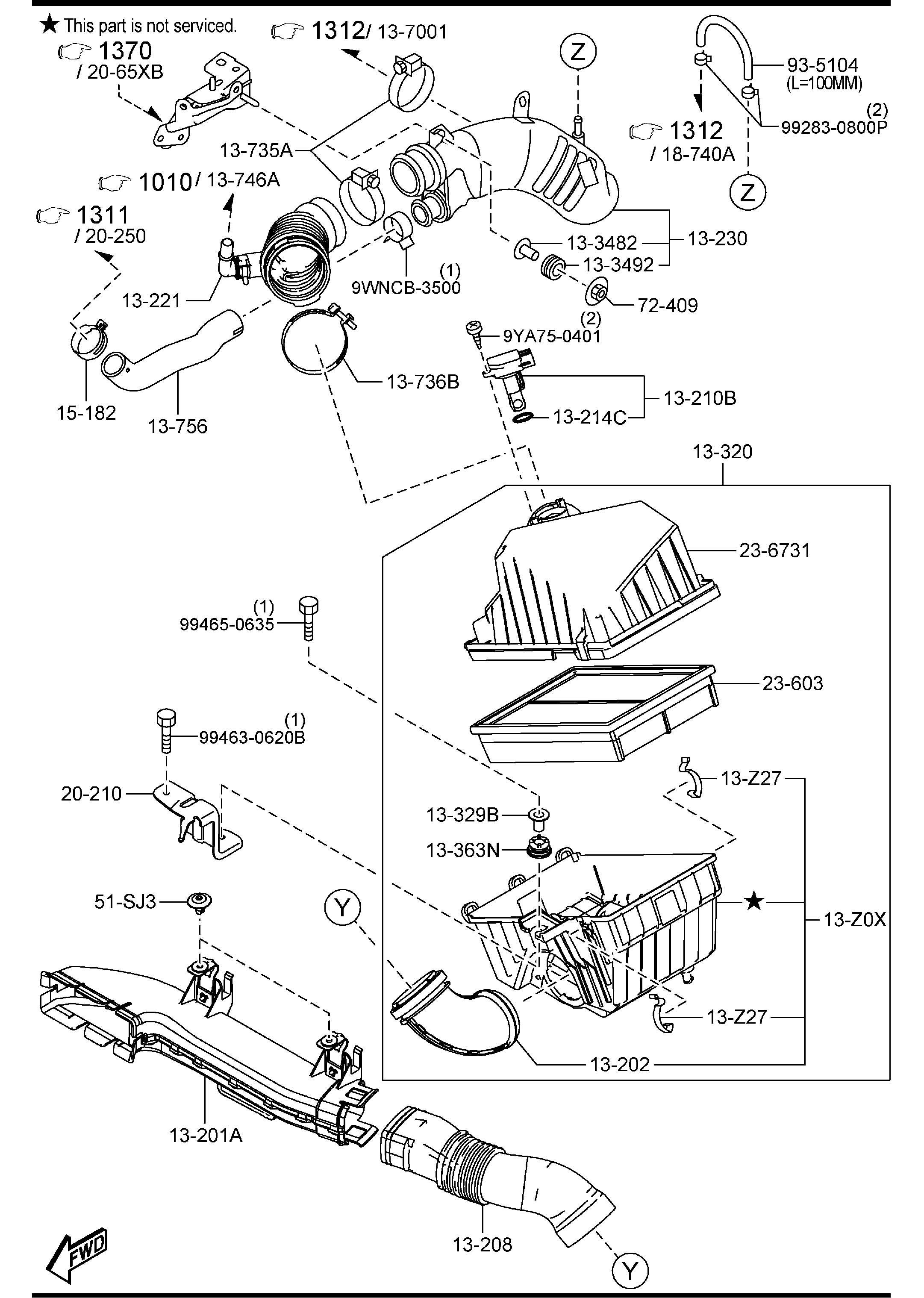 Mazda Mazda 3 Duct Fresh Air