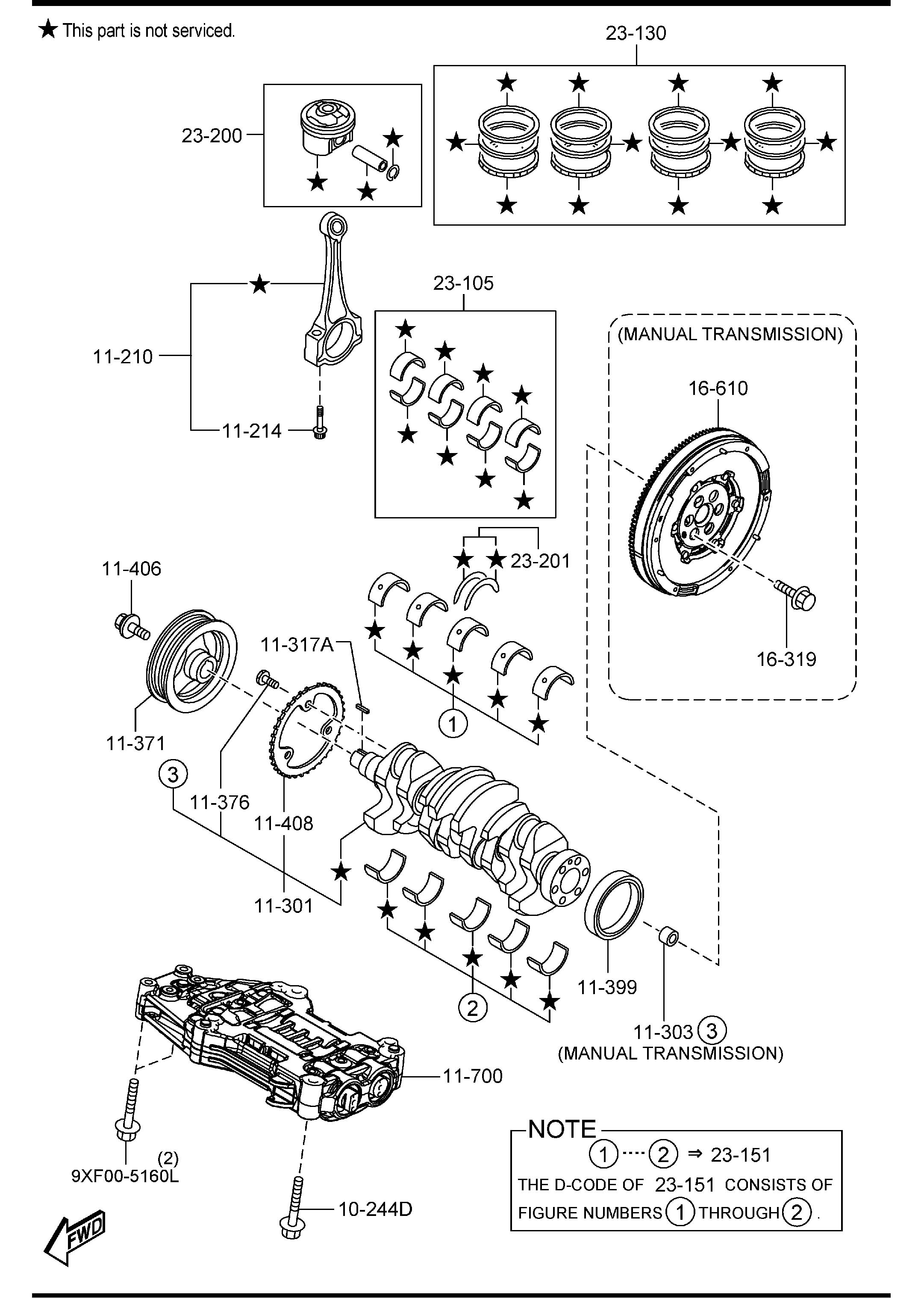 Crankshaft Flywheel And Alternator Diagram And Parts