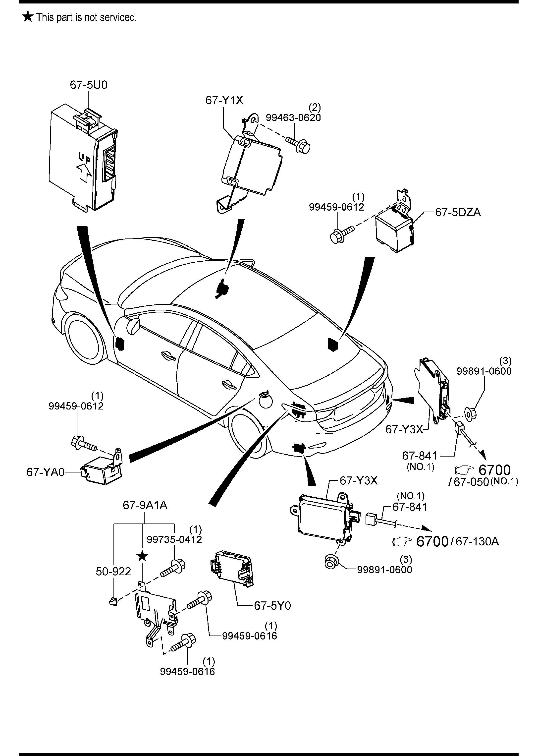 Mazda Body Relays Amp Unit