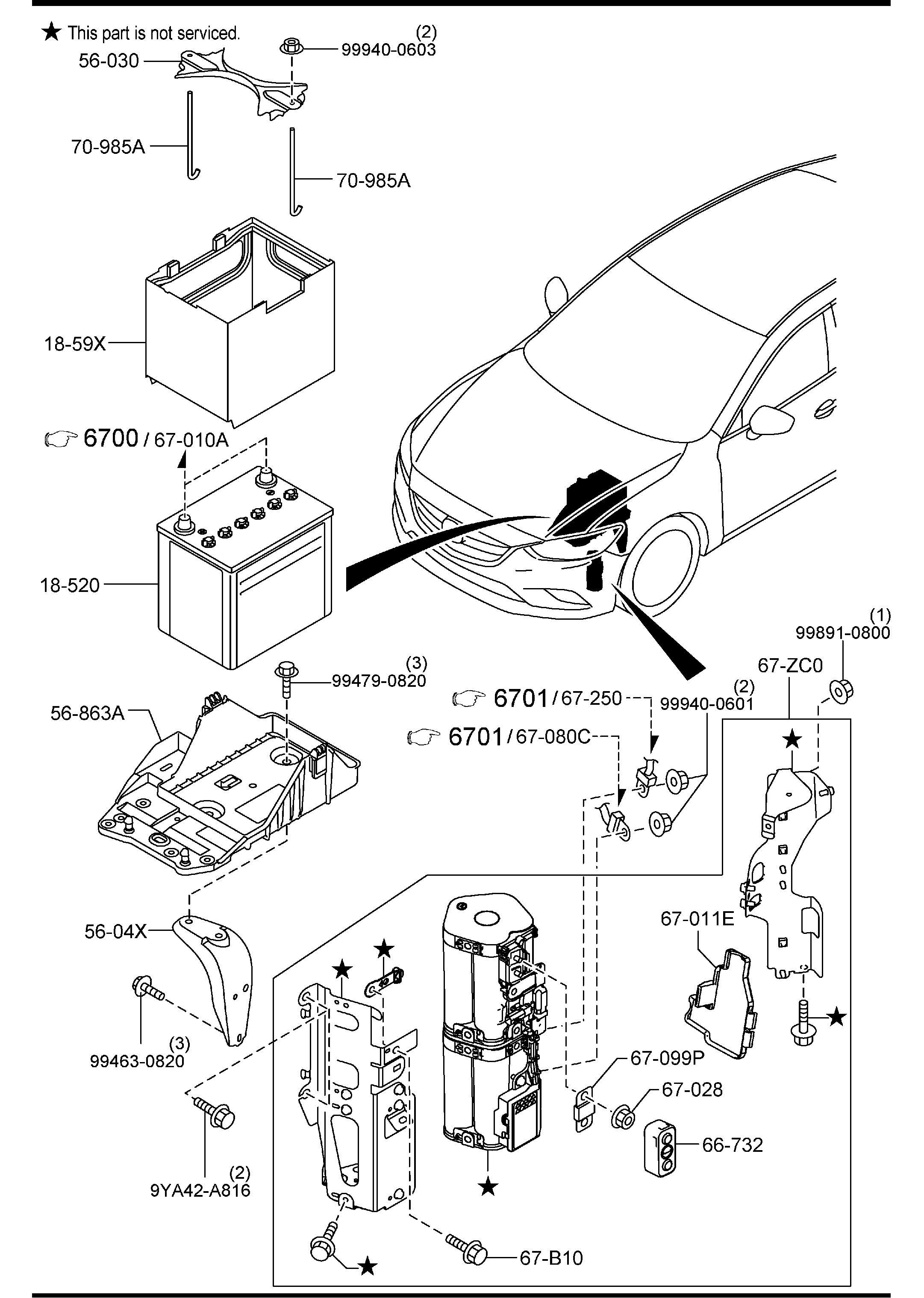 Mazda Mazda 6 Vehicle Battery Panasonic Selection