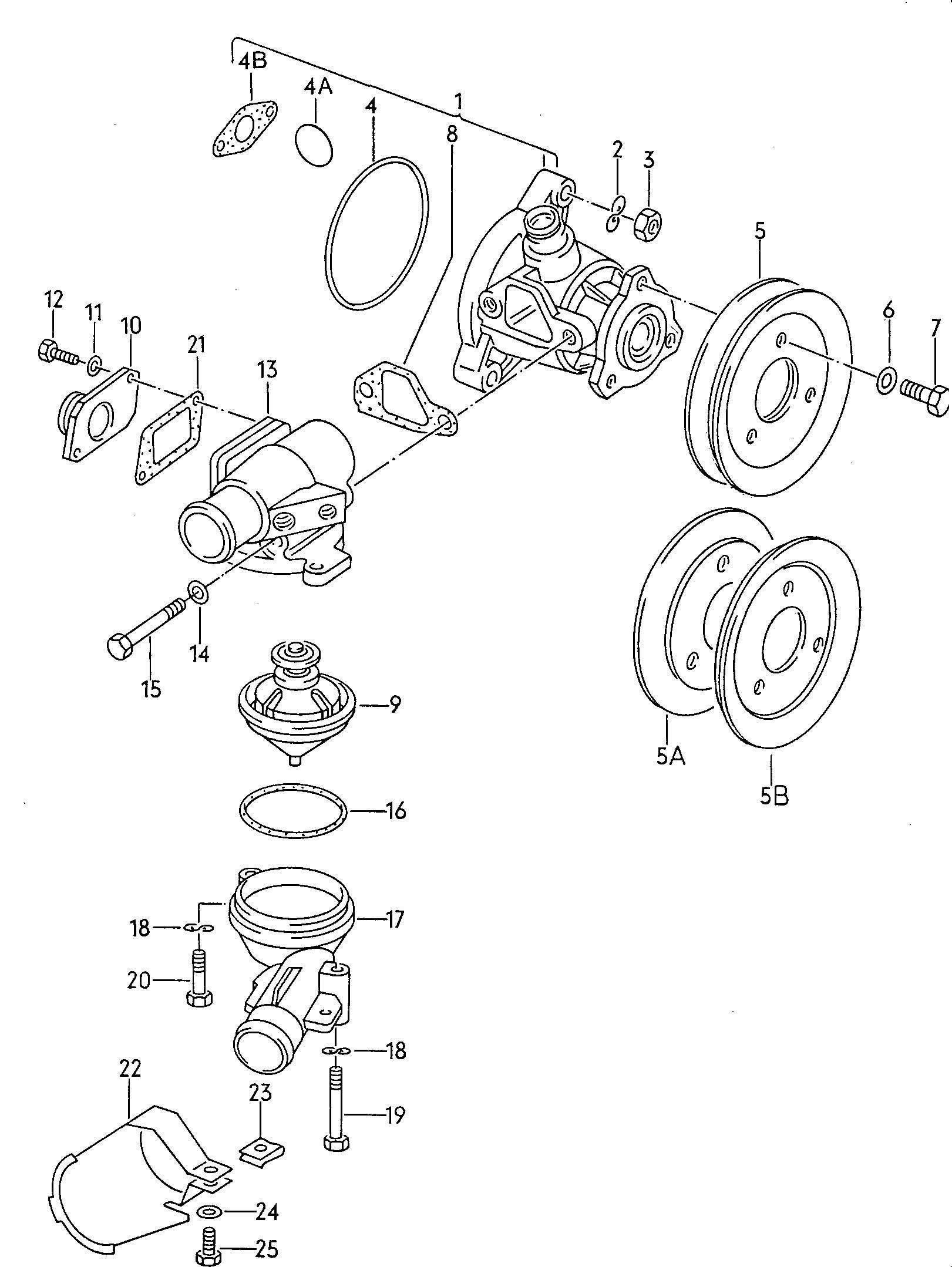 Volkswagen Vanagon Water Pump Thermostat Housing 1 9ltr