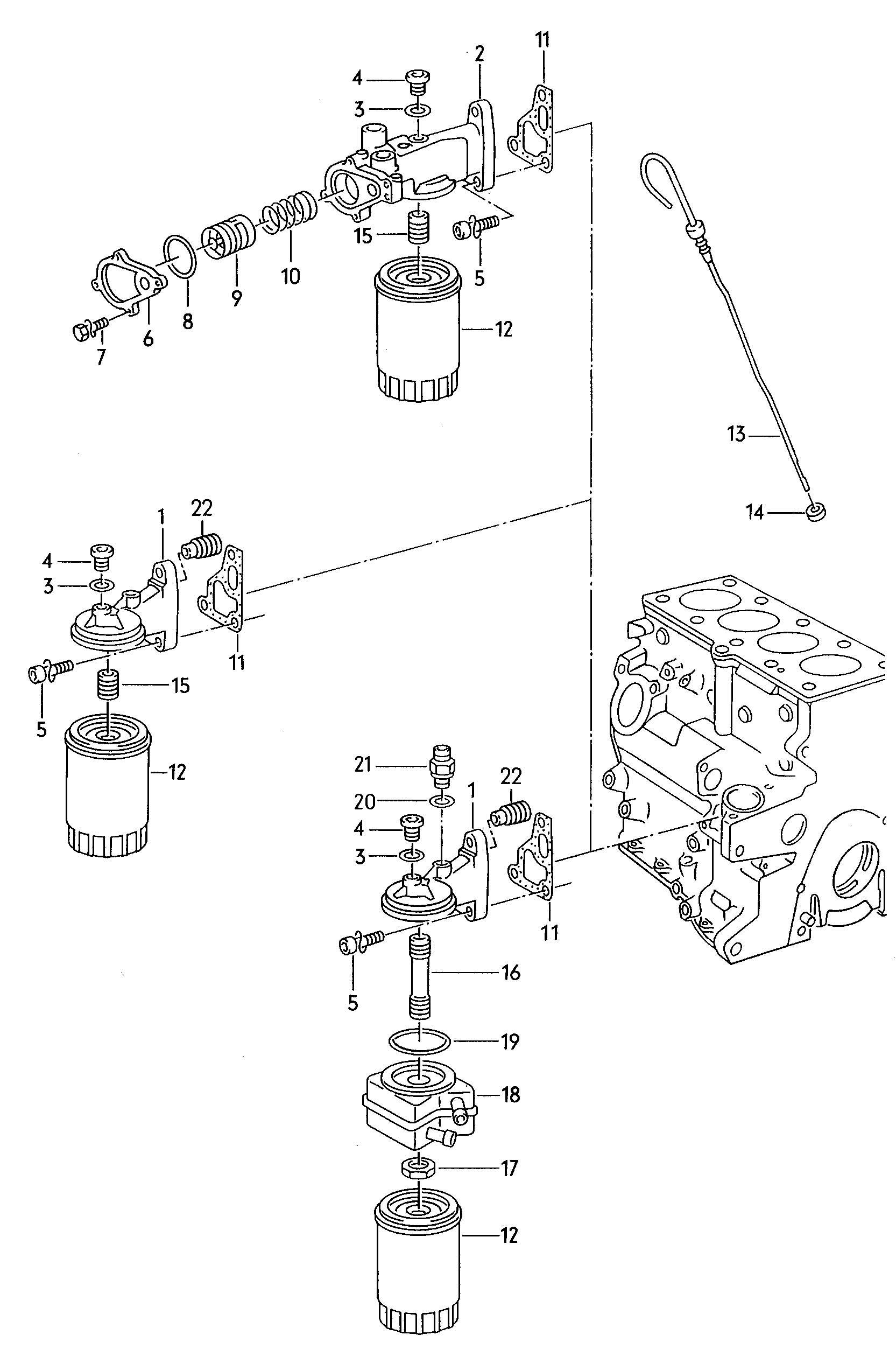 Volkswagen Jetta Oil Cooler Neck Ltr