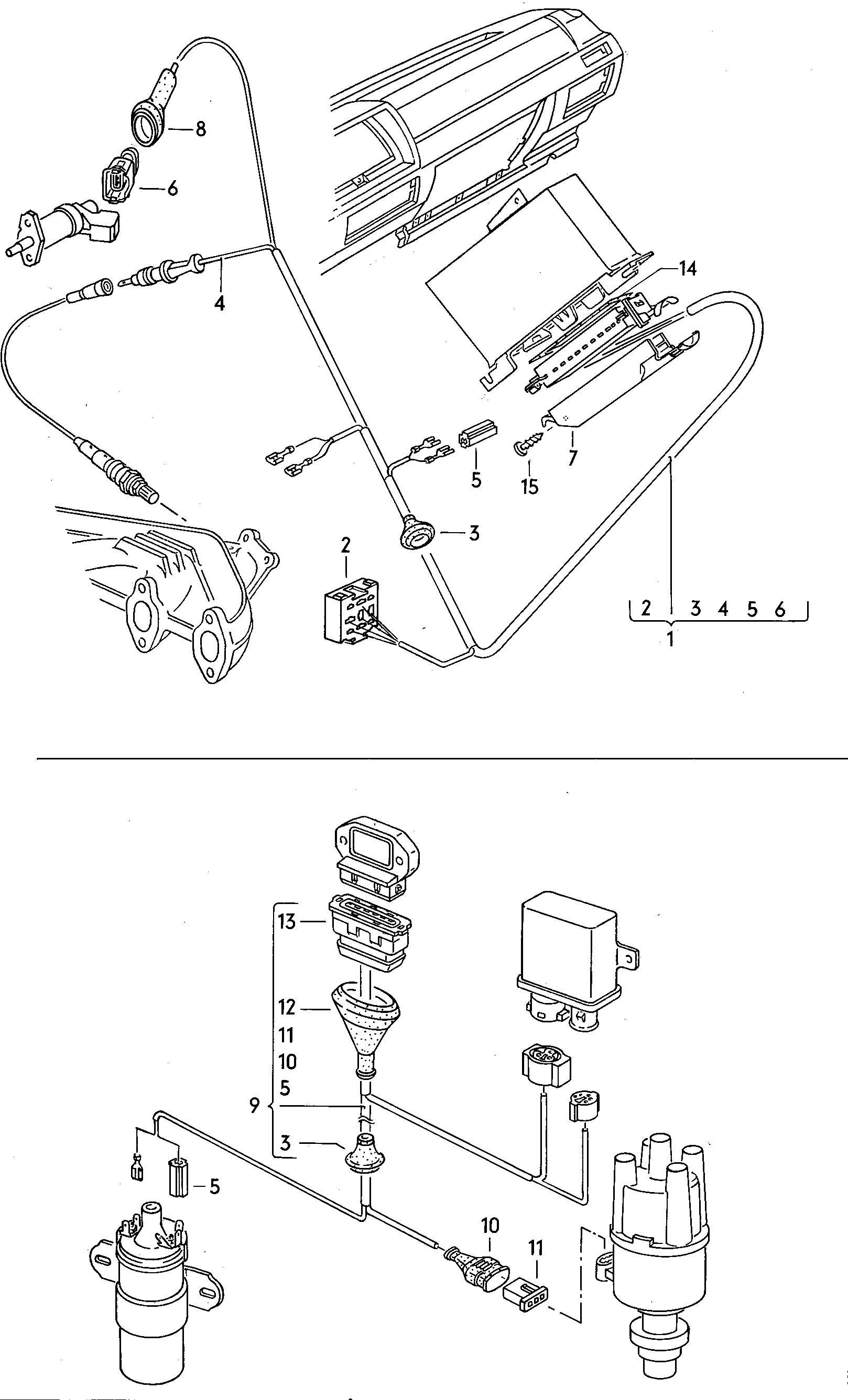 Volkswagen Dasher Harness For Oxygen Sensor And