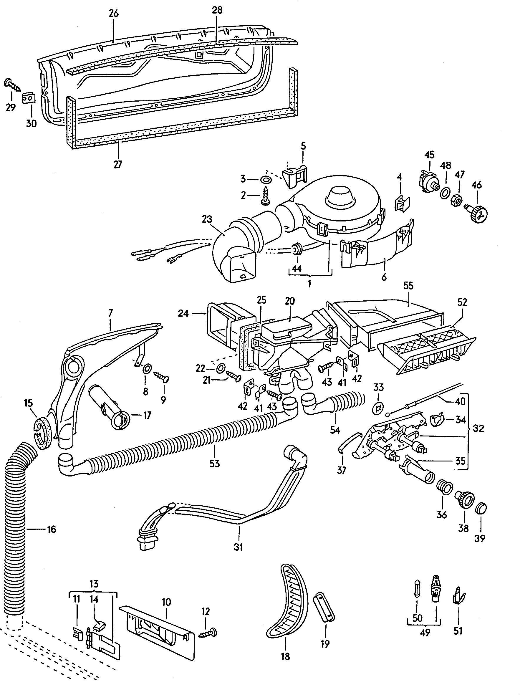 Volkswagen Beetle Electric Fan Motor Blower Motor