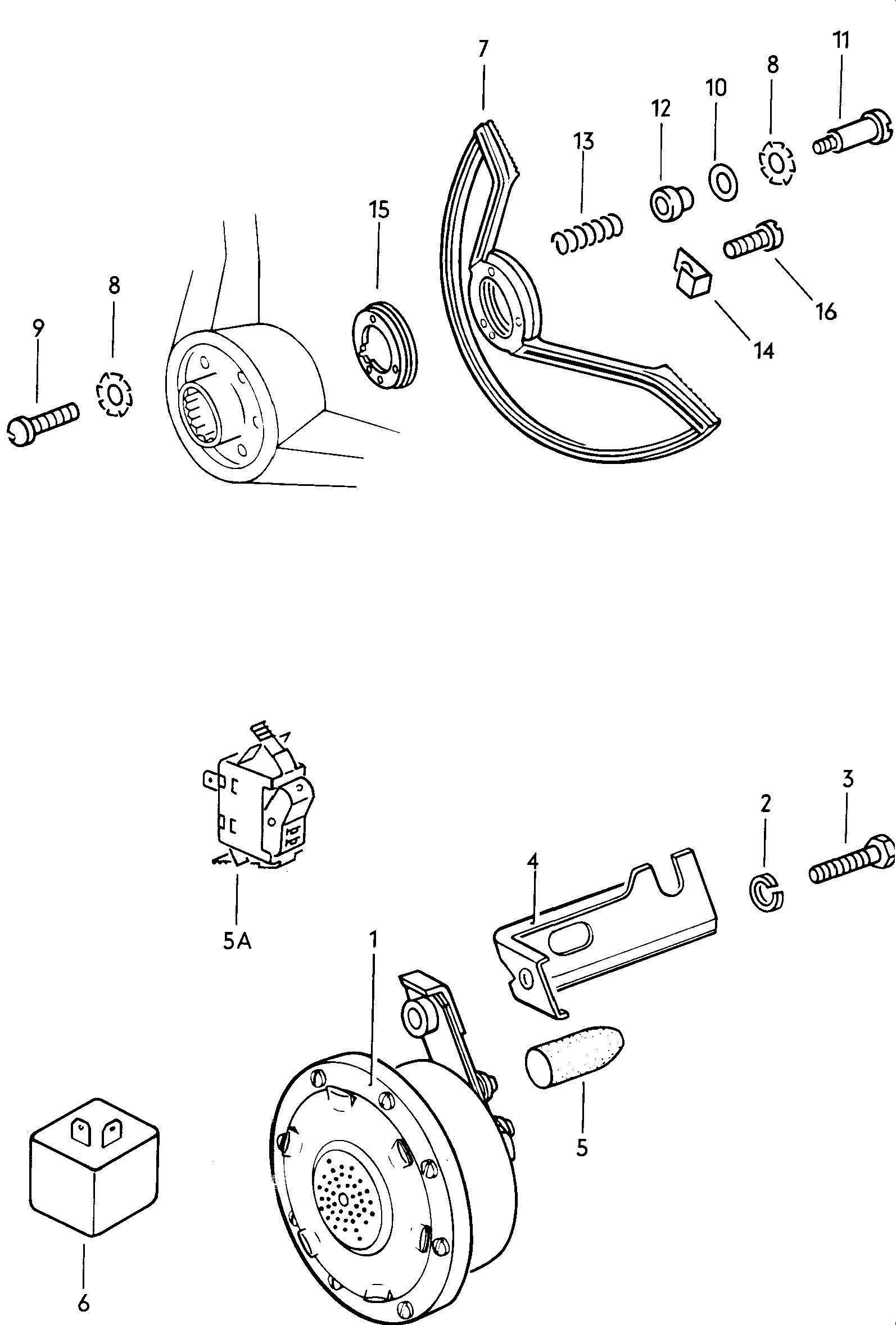 Volkswagen Beetle Horn Buzzer Horn Ring