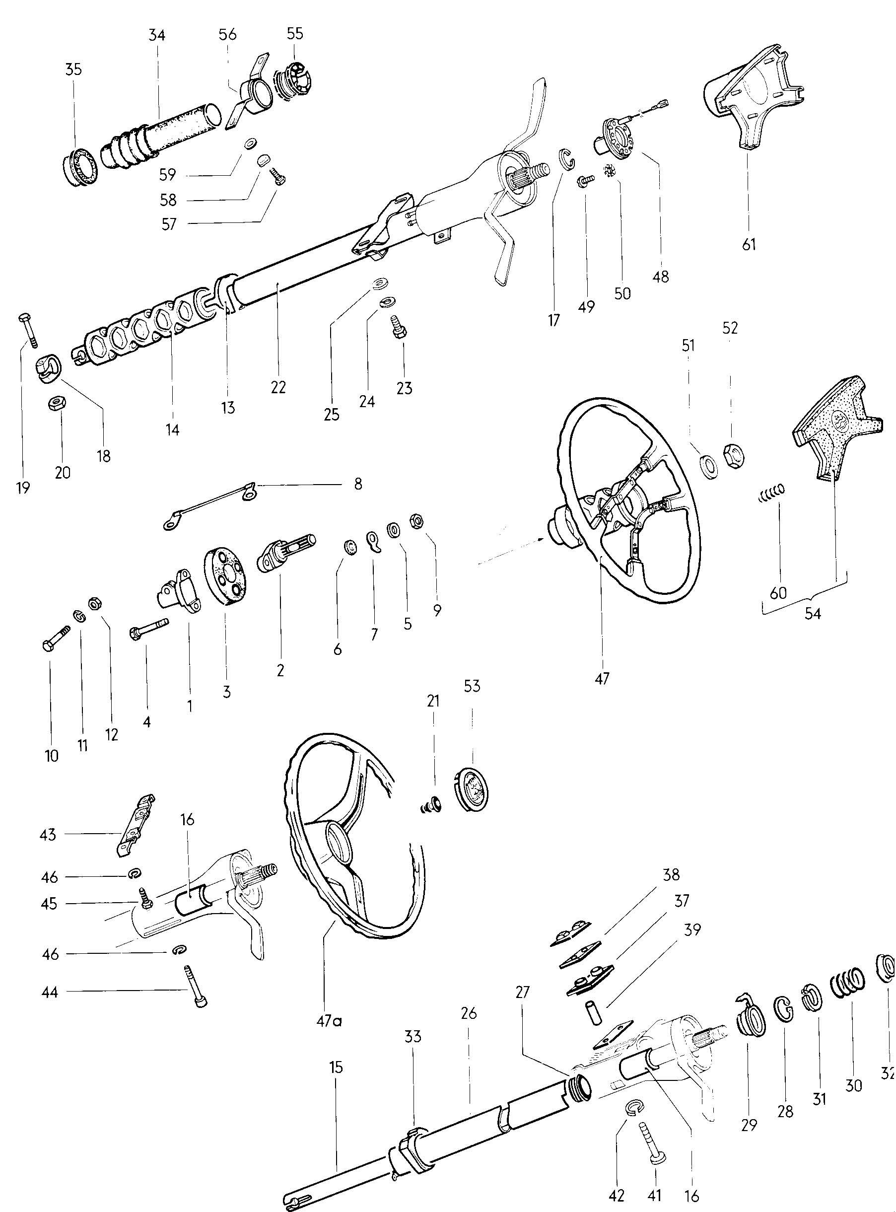 Volkswagen Steering Wheel Steering Column