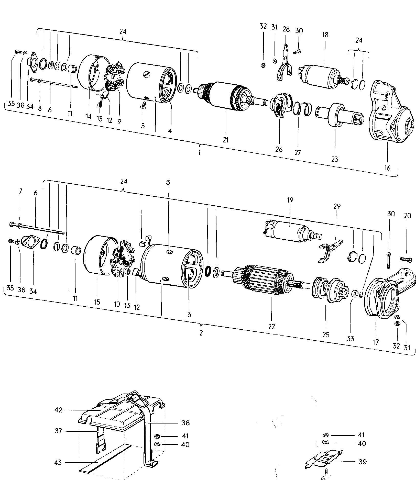 Volkswagen Type 3 Starter