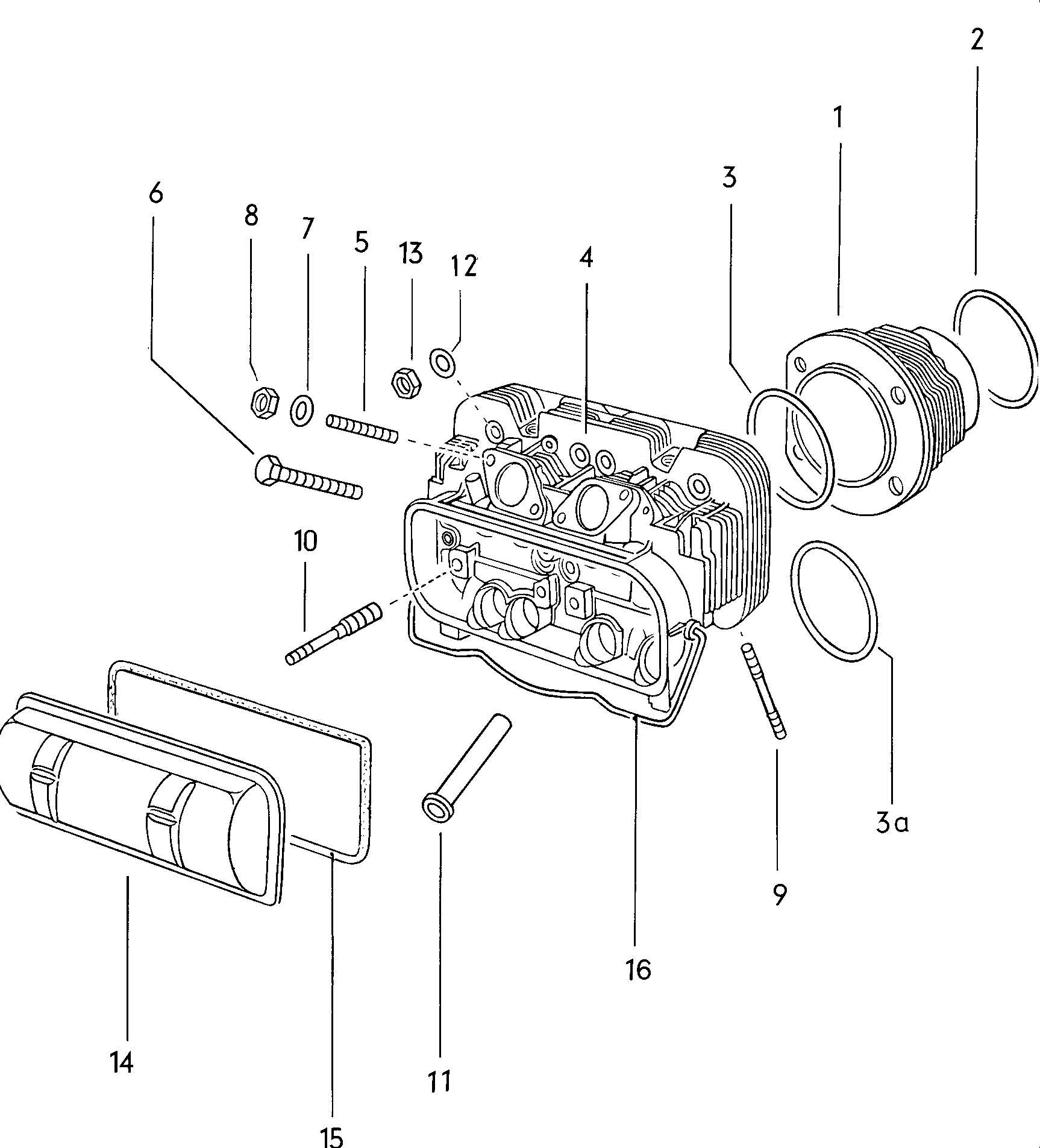 Volkswagen Type 4 Exhaust Valve Guide With Shoulder Guide