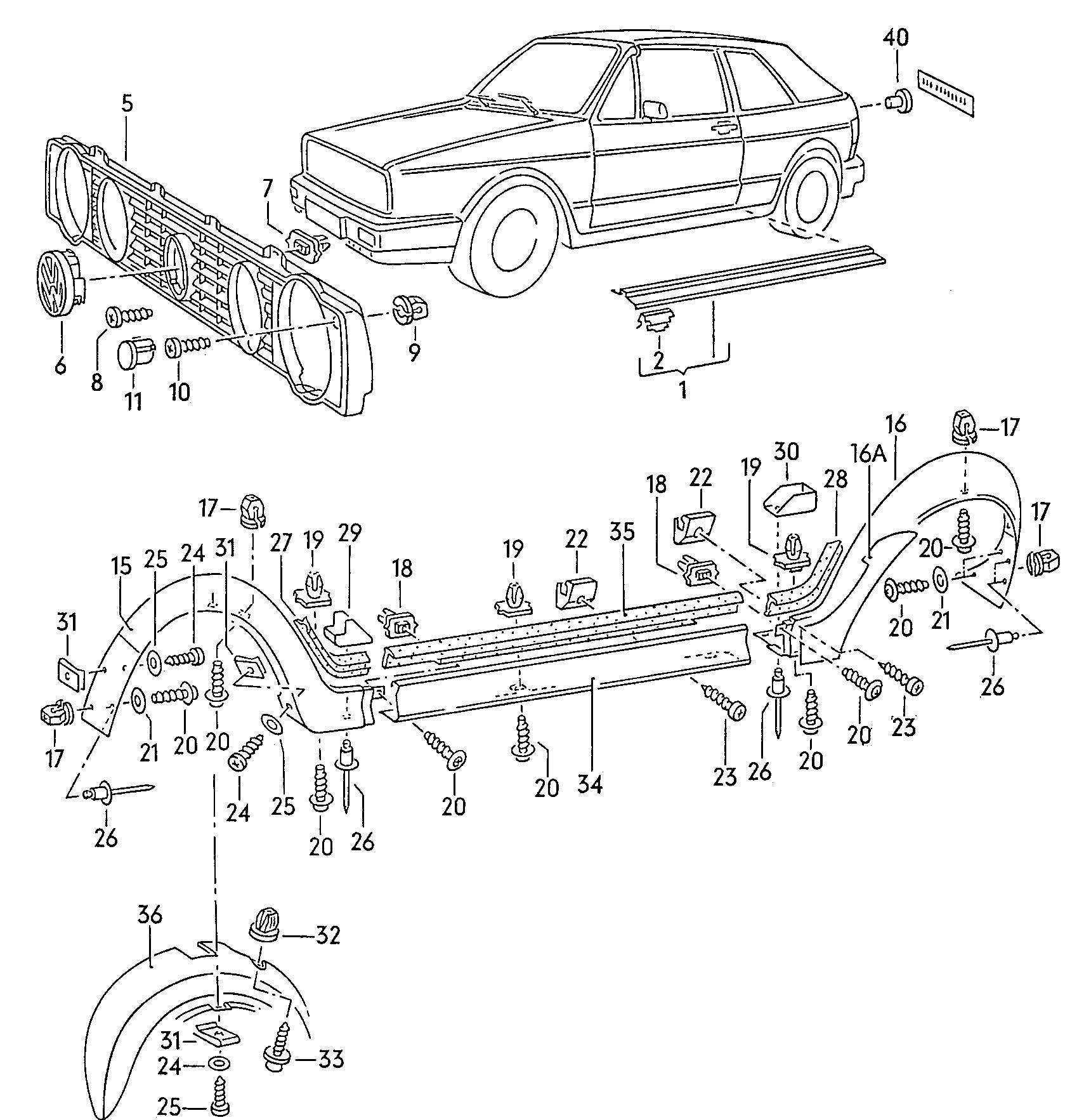 Volkswagen Cabrio Cabriolet 1 8l K Jetronic Radiator