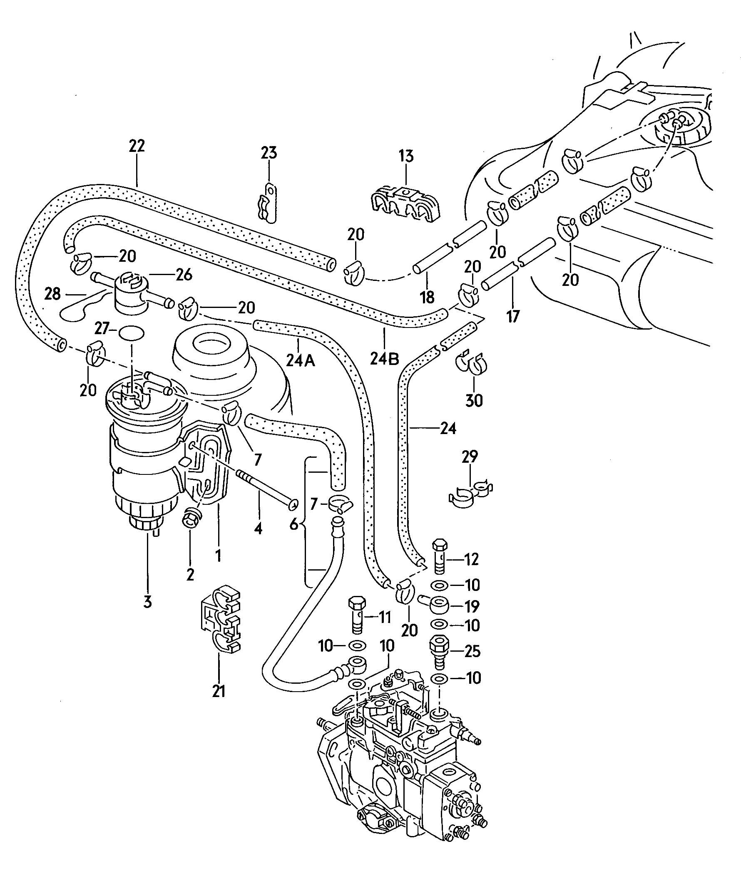 Volkswagen Jetta Clamp Clip