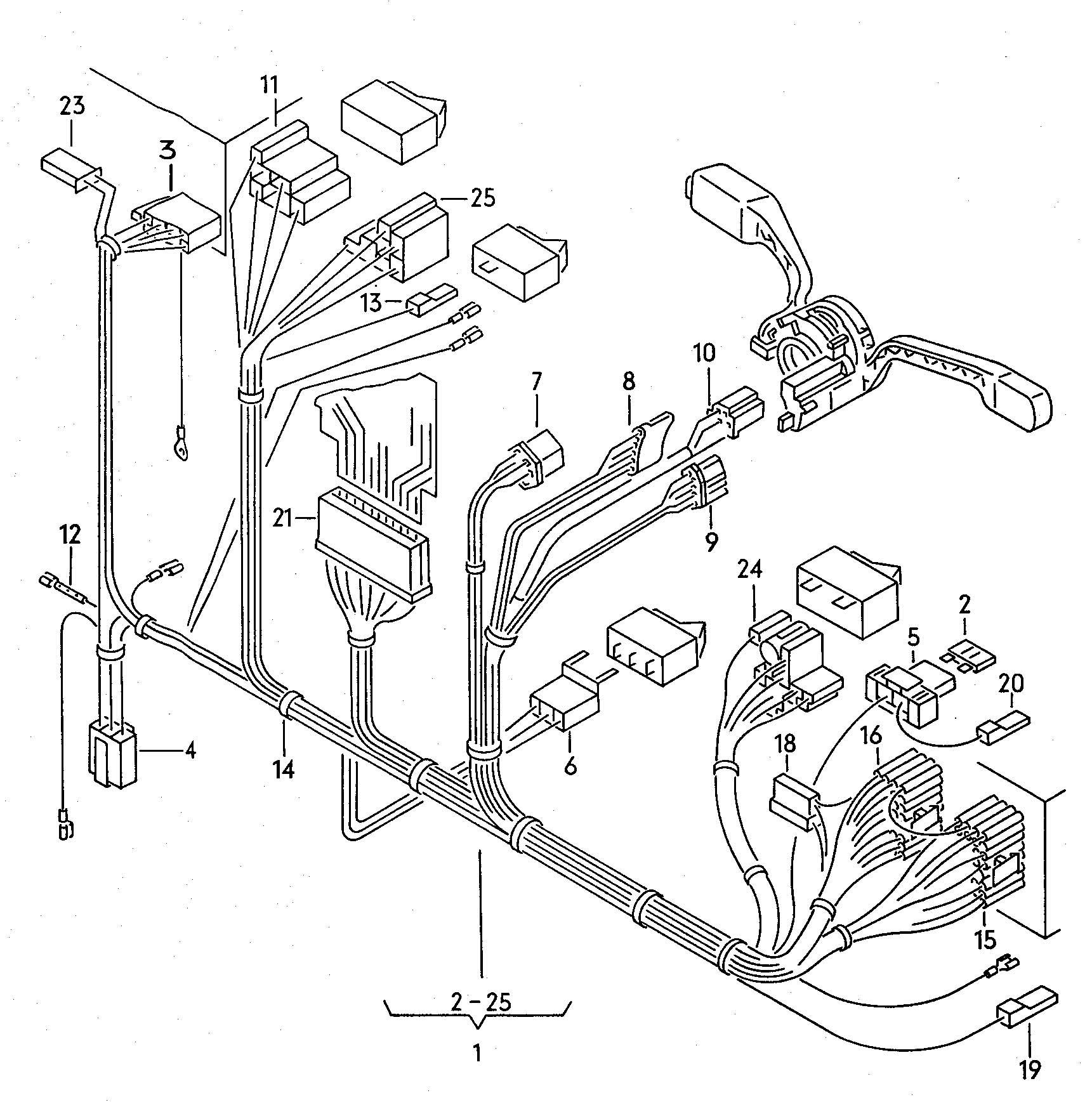 Volkswagen Vanagon Syncro Loudspeaker Light Harness Rear