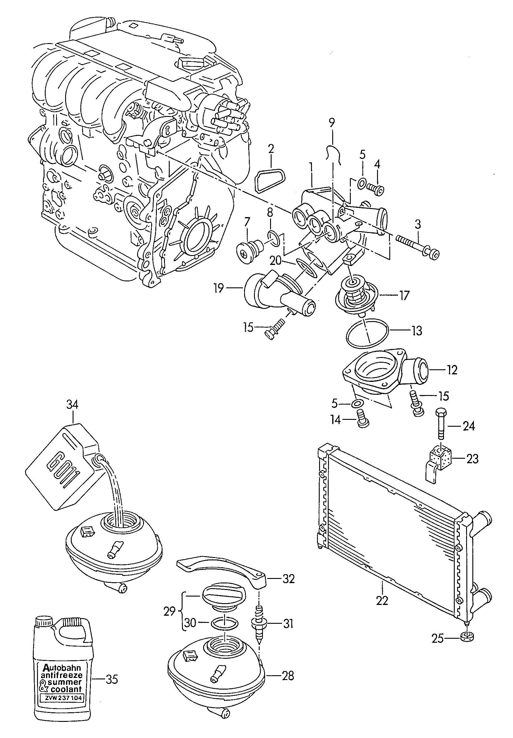 Volkswagen Passat Adapter Pipe Support Bracket Aes