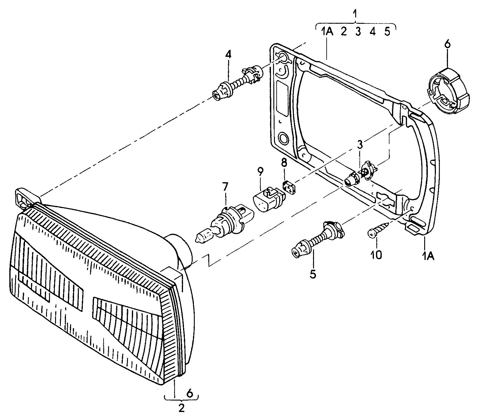 Volkswagen Jetta Retaining Ring For Halogen Bulb Bulb