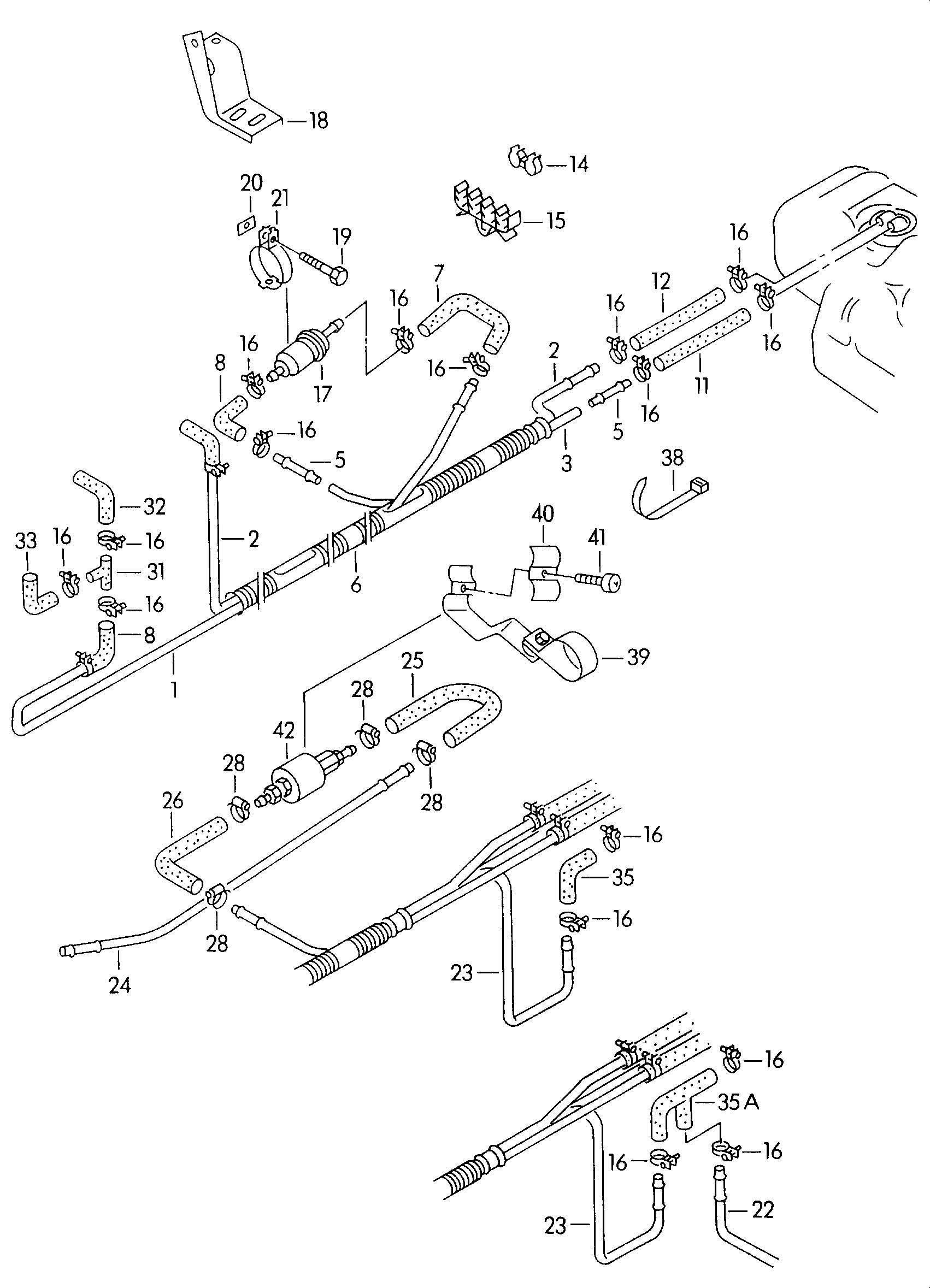 Volkswagen Eurovan Fuel Line For Vehicles With Additional