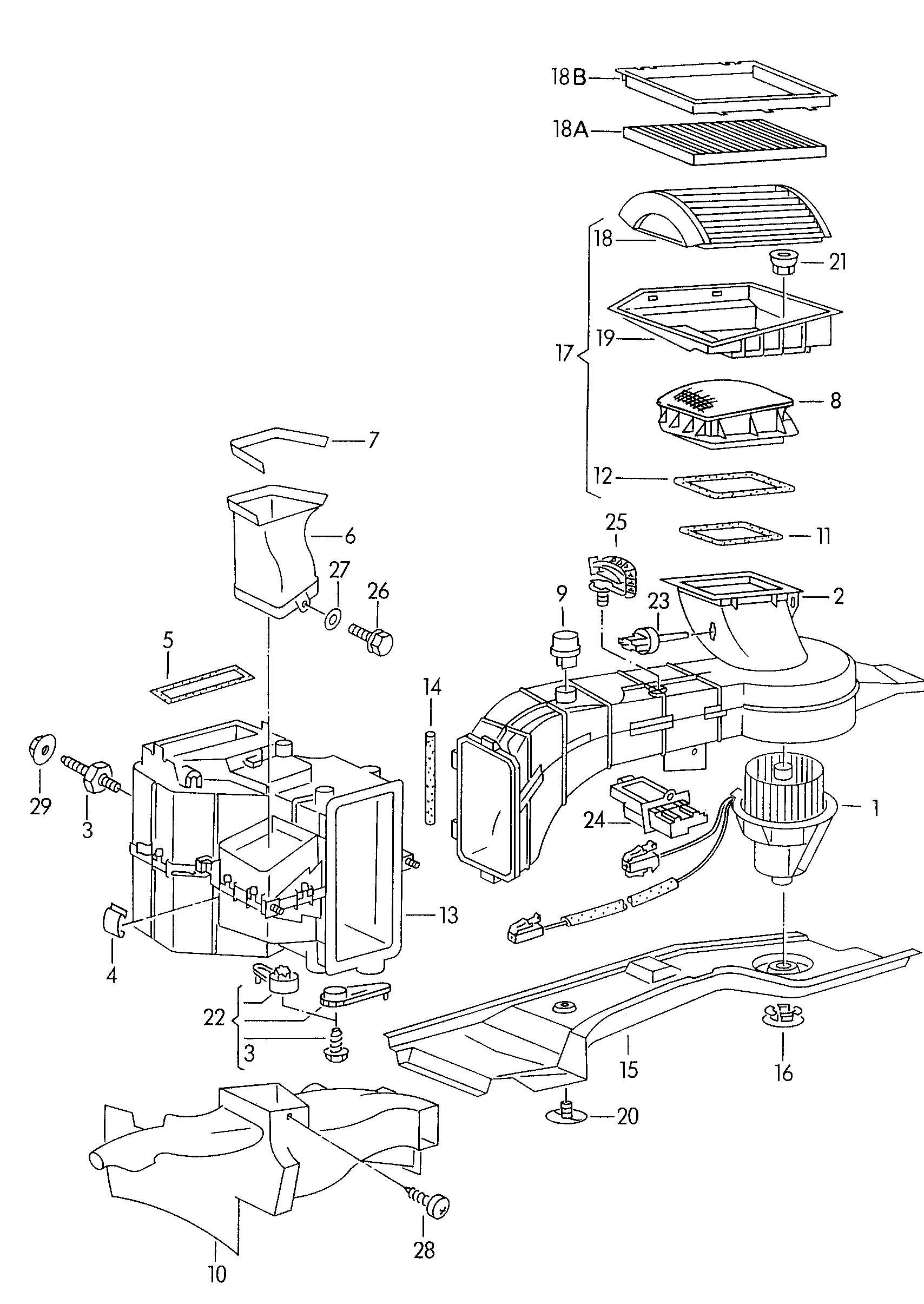Fan Heater Core Heater