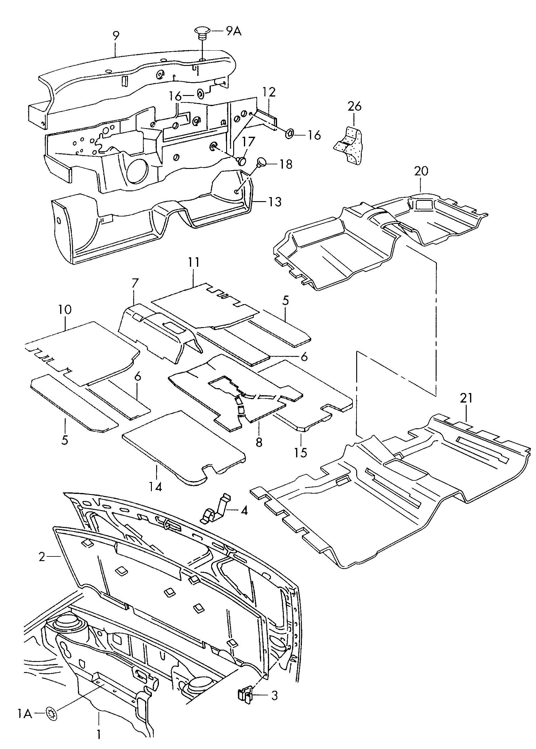Volkswagen Jetta Sound Absorber For Floor Aound Absorber