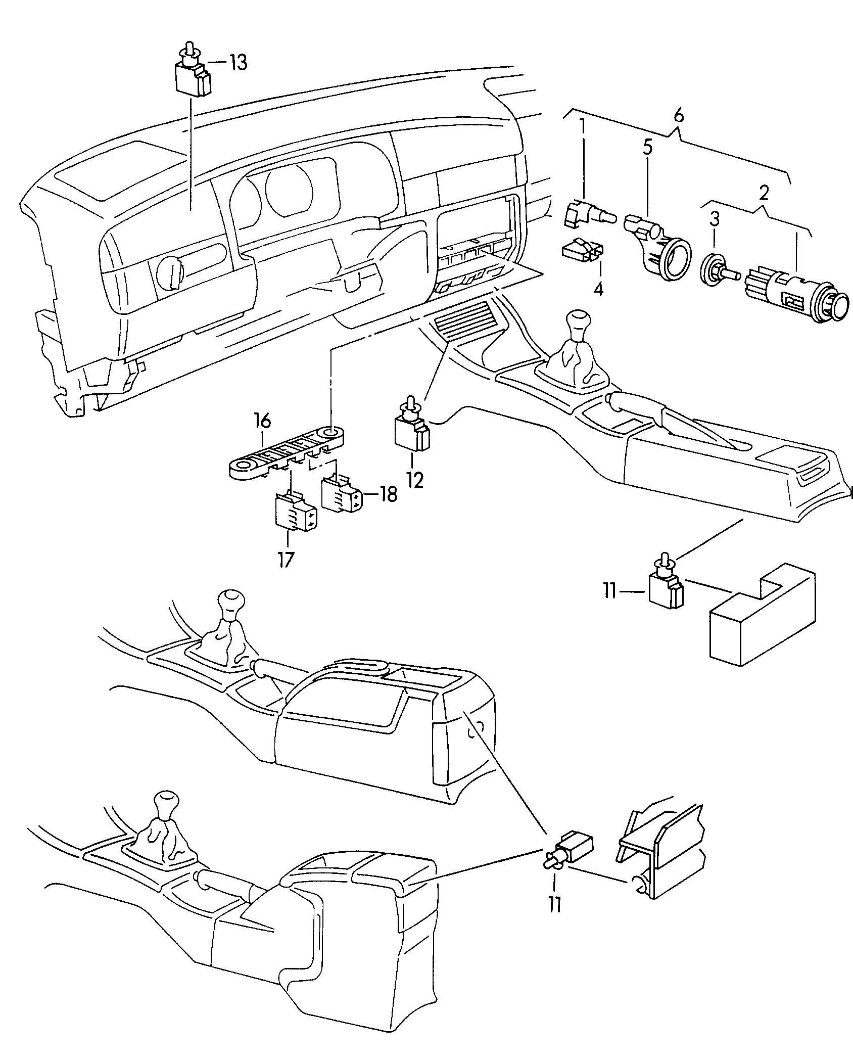 Volkswagen Golf Clear Glass Cassette Holder Illumination