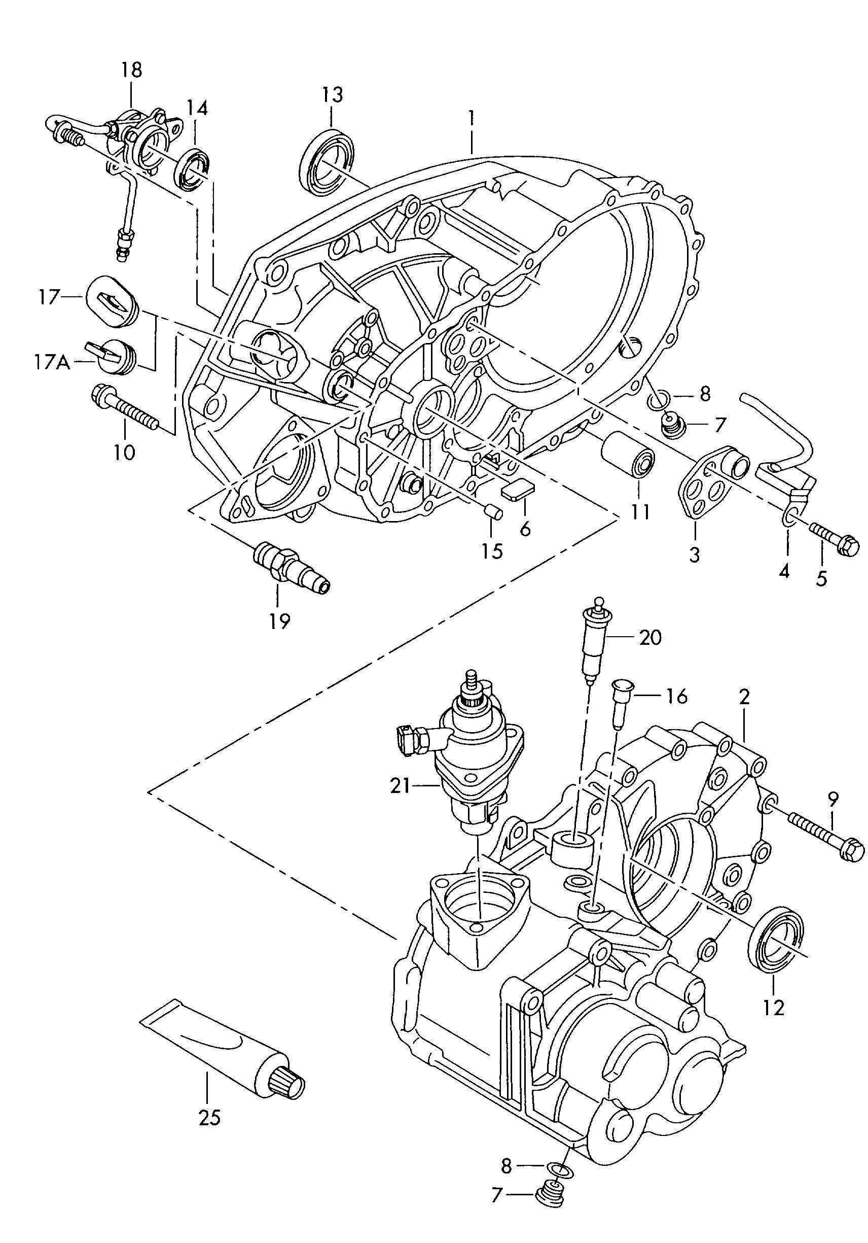 Volkswagen Eurovan Valve Unit Pressure Hose Illustration