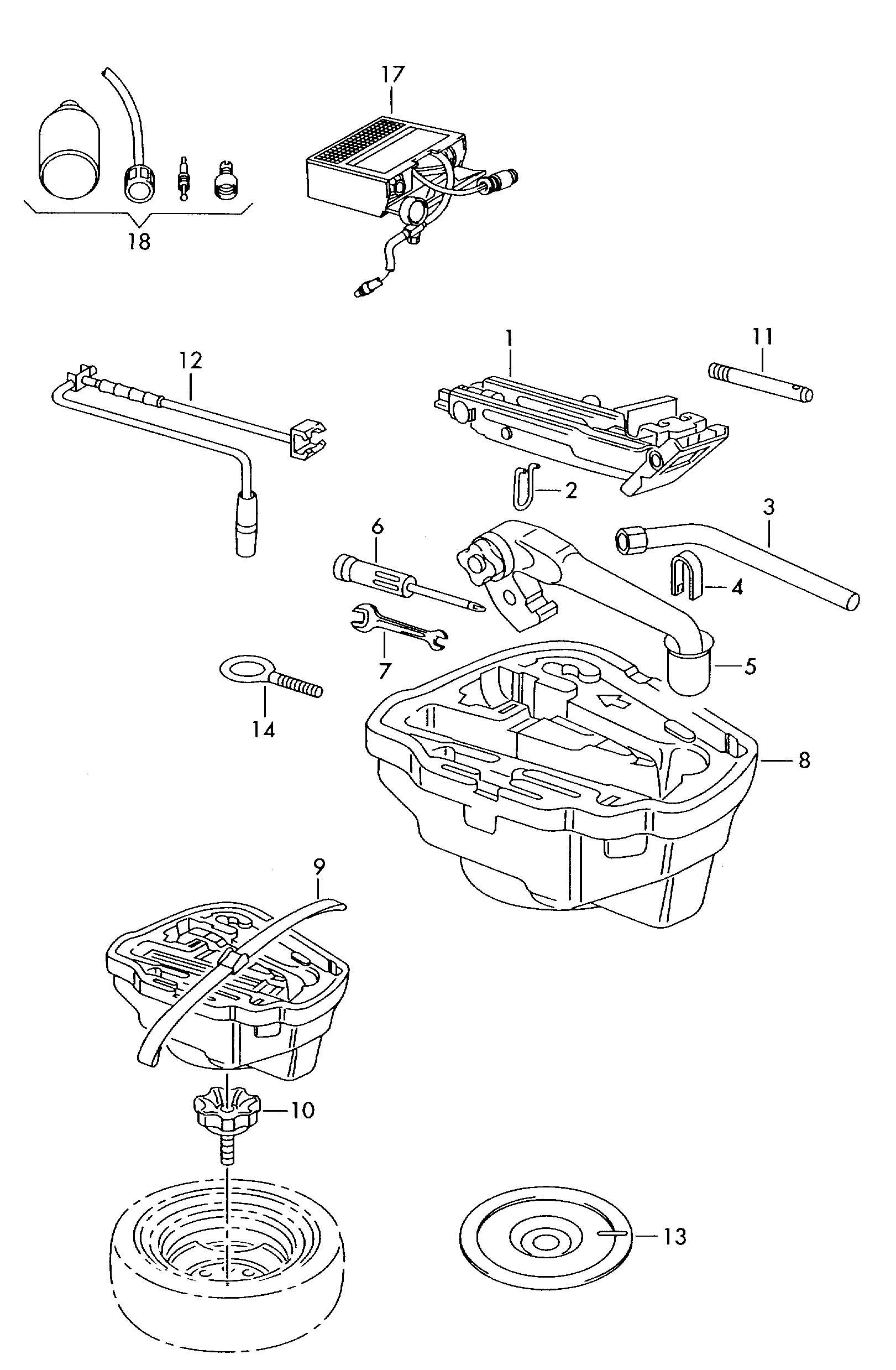 Volkswagen New Beetle Tool Kit Bag Tool Bag