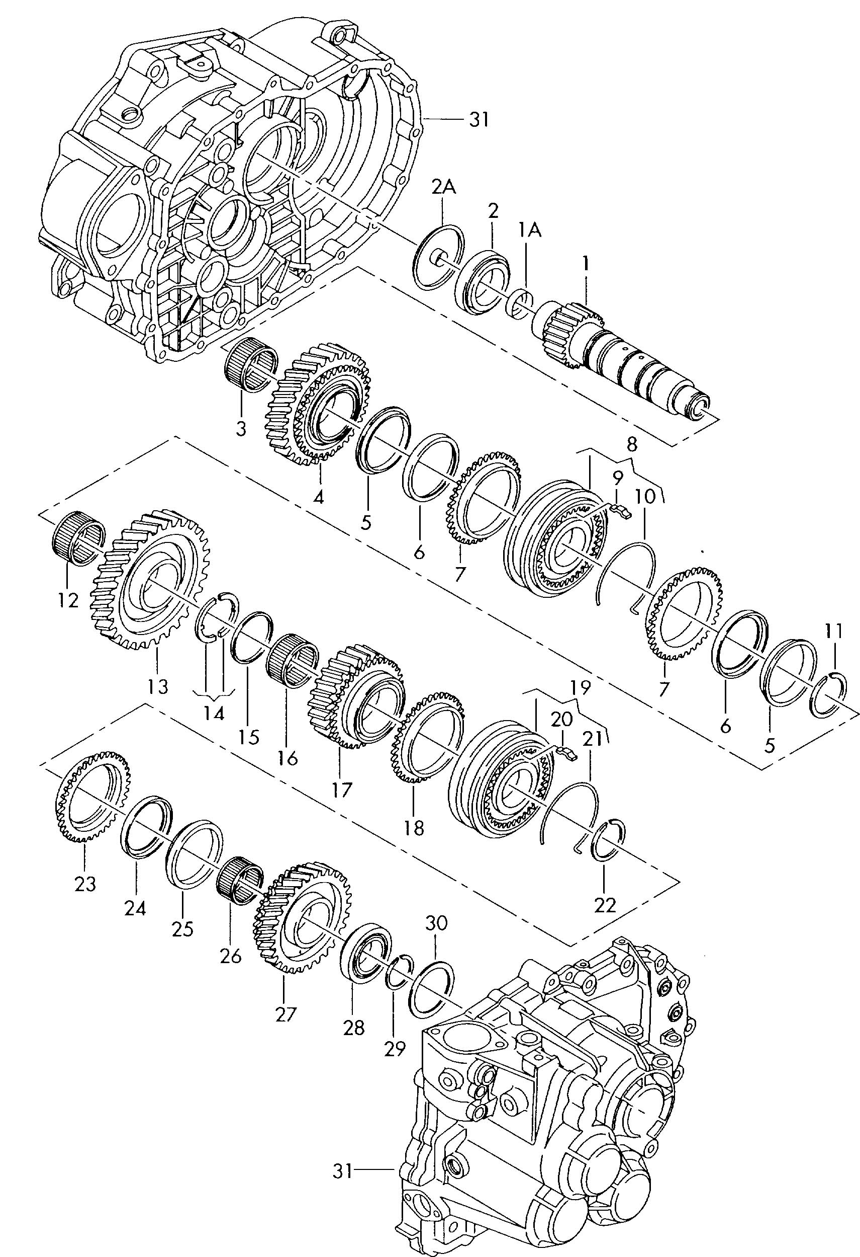 Volkswagen Golf Carbon 1 Set Synchro Rings