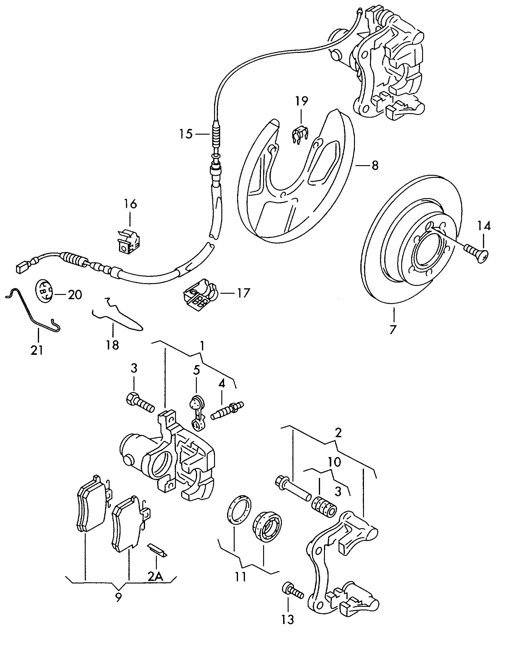 Volkswagen Jetta Variant Brake Caliper Piston Housing