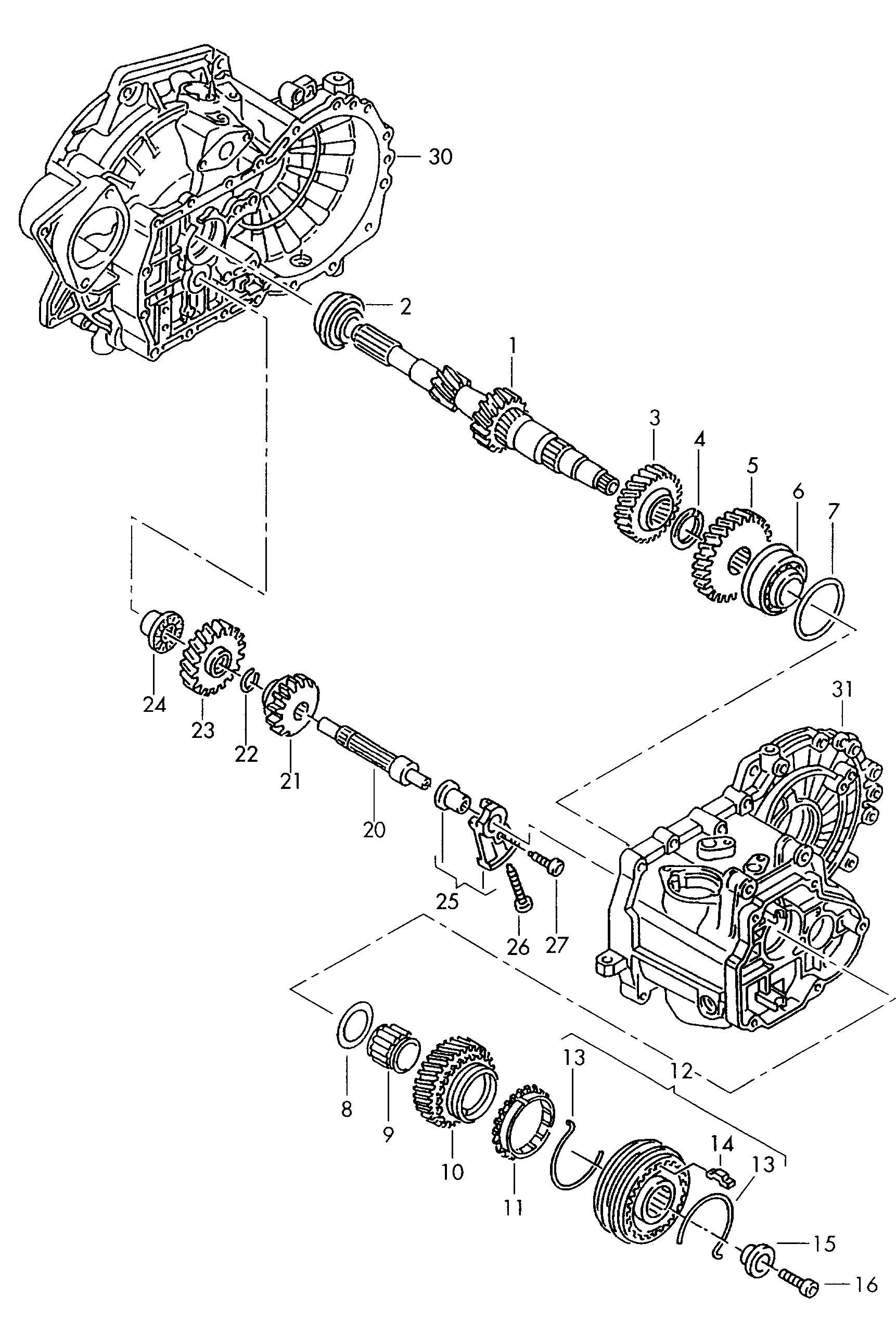 Volkswagen Jetta Gear Ehc Egf Dzc Eww