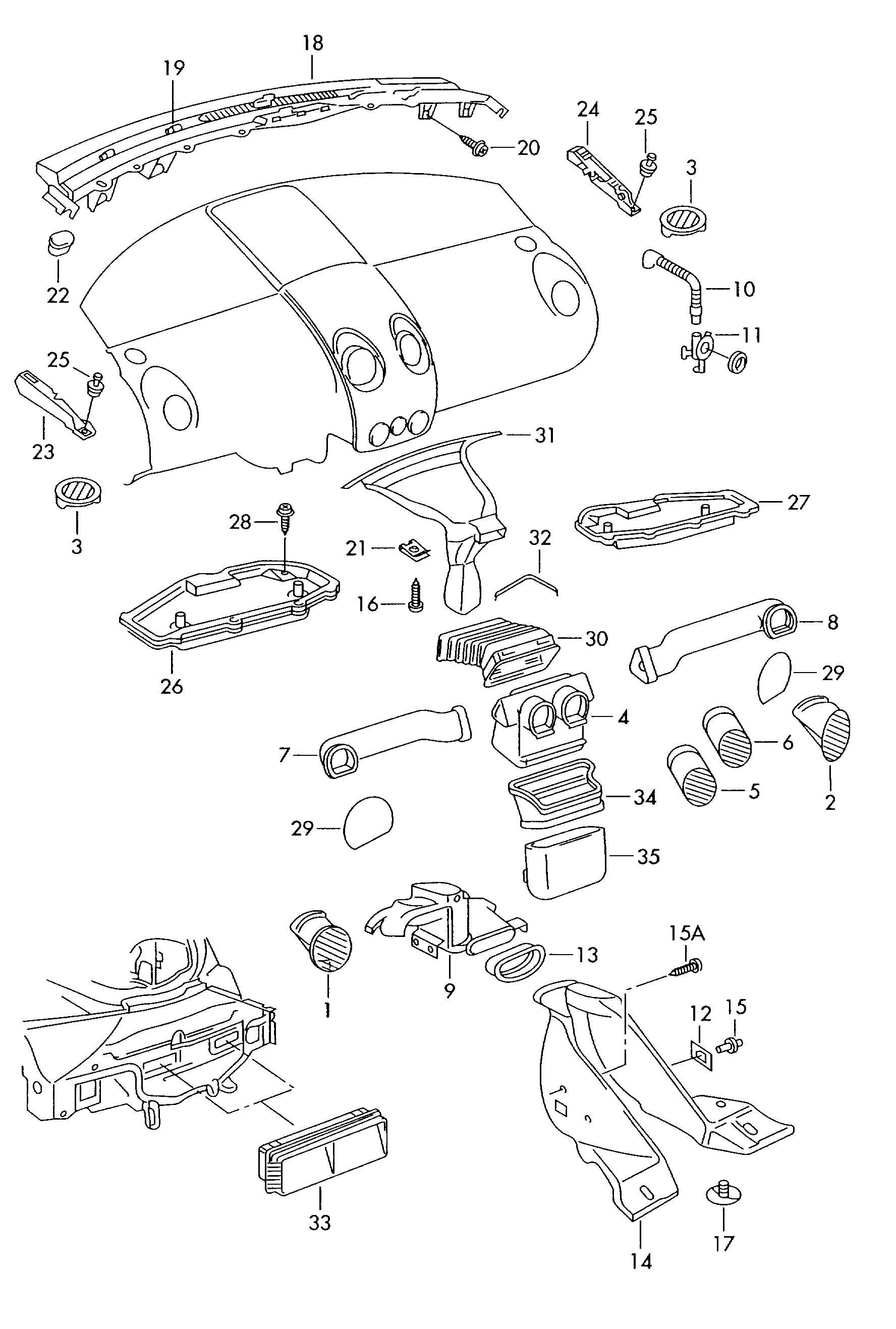 Volkswagen New Beetle Connecting Piece