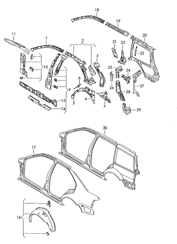 Volkswagen Jetta Variant Sill End Plate Side Member