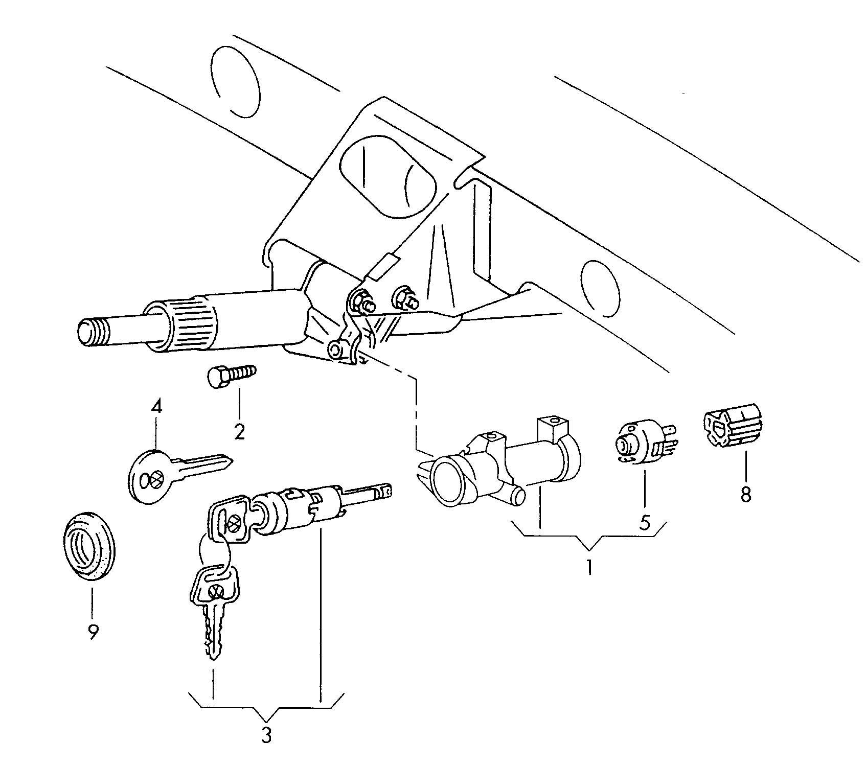 Volkswagen Passat Steering Lock With Ignition Starter