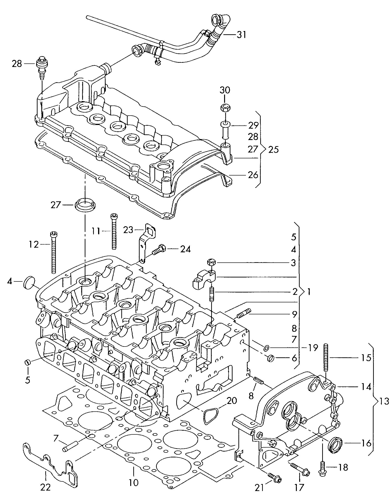 Volkswagen Eurovan Cylinder Head Gasket Metal