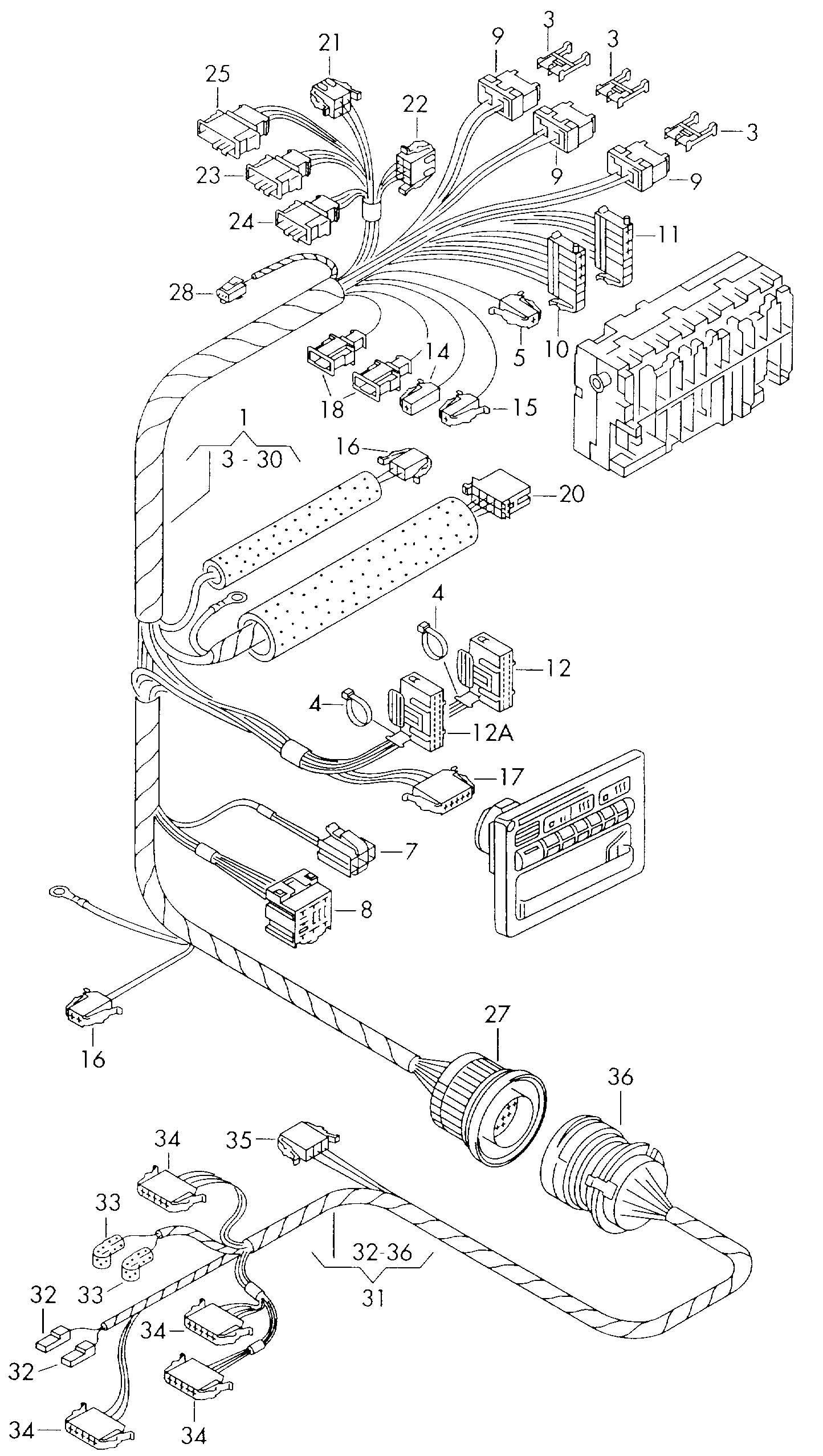 Volkswagen Eurovan Adapter Wiring Harness Adapter Harness
