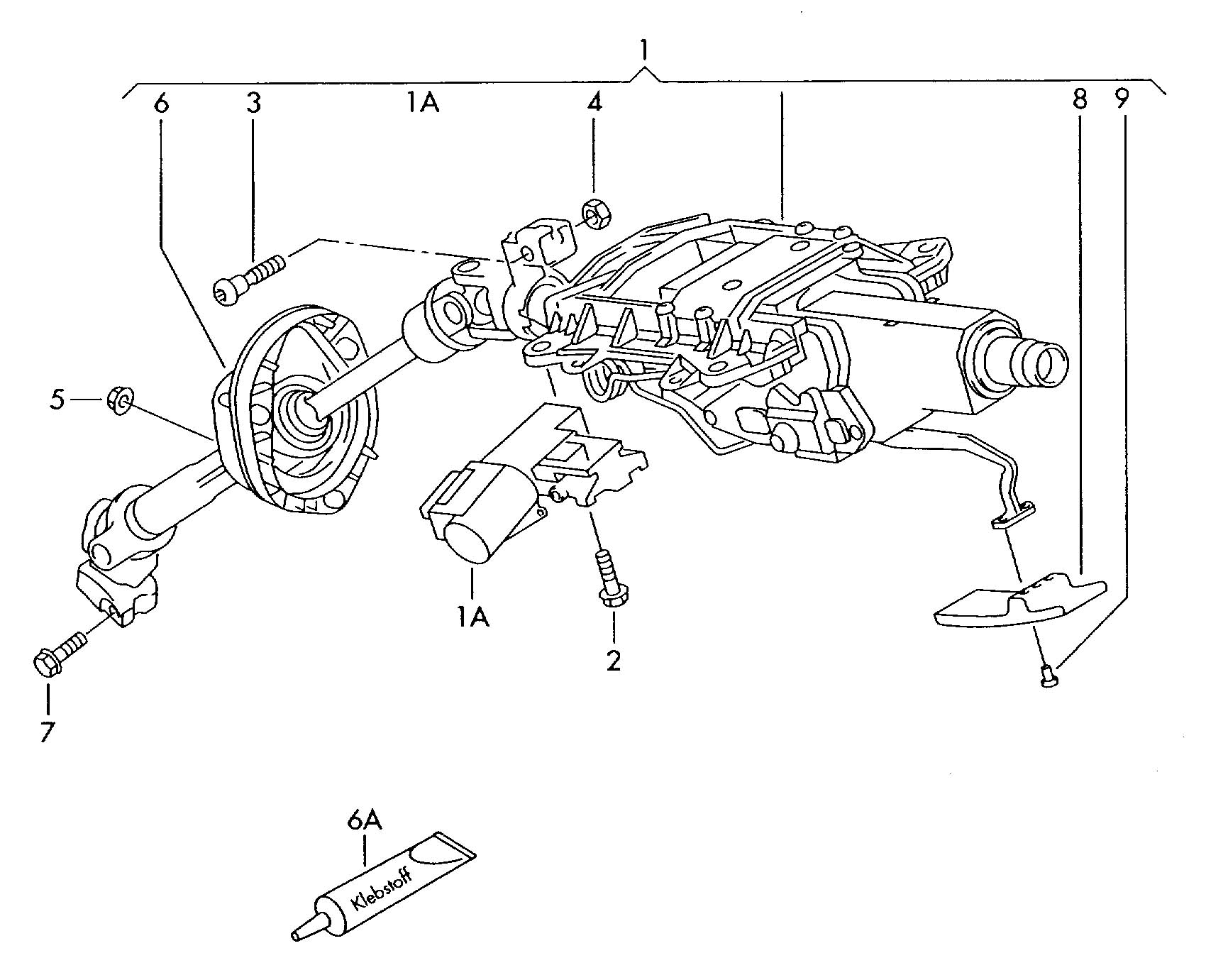 Volkswagen Touareg Steering Column For Vehicles With