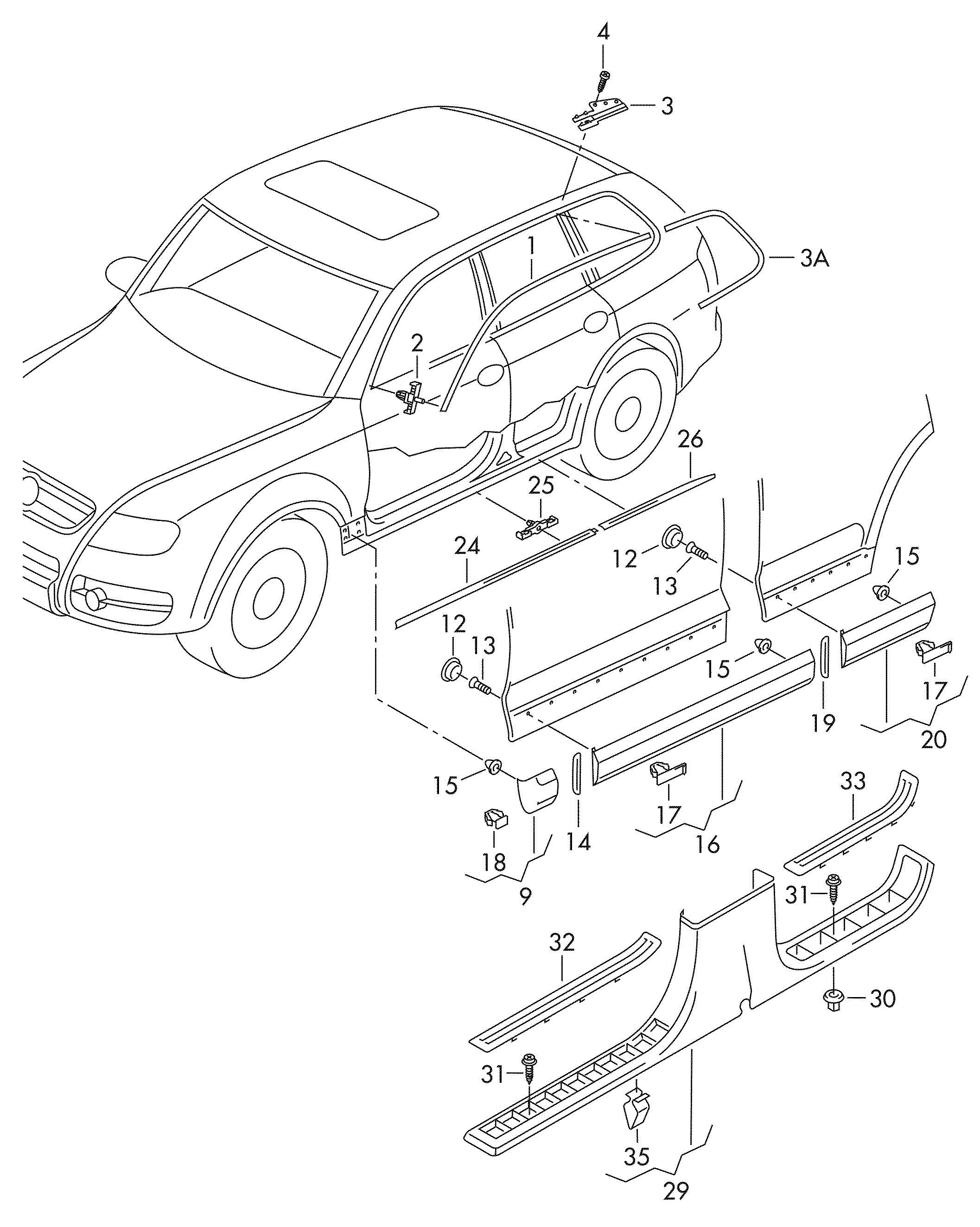 Volkswagen Touareg Grommet Skirting