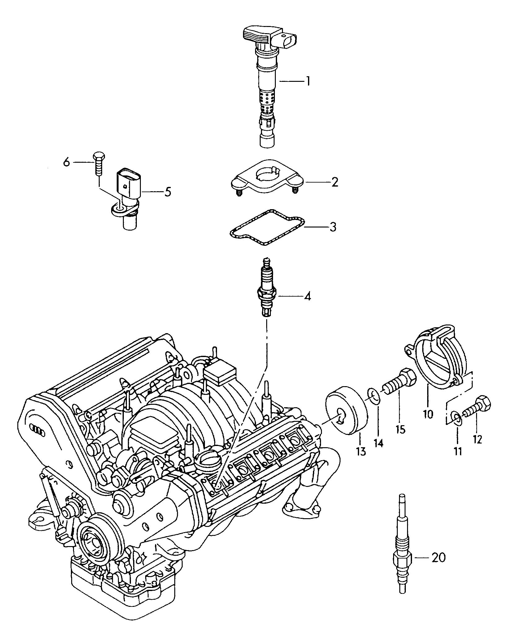 Volkswagen Touareg Ignition Coil With Spark Plug Connector