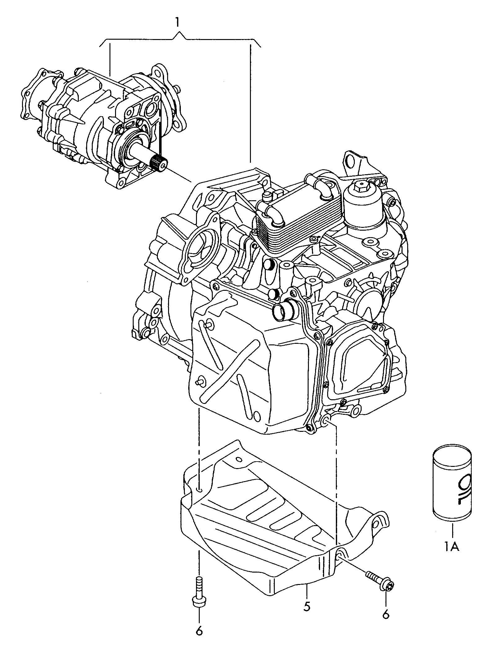 Volkswagen Jetta 6 Speed Dual Clutch Gearbox Transmission