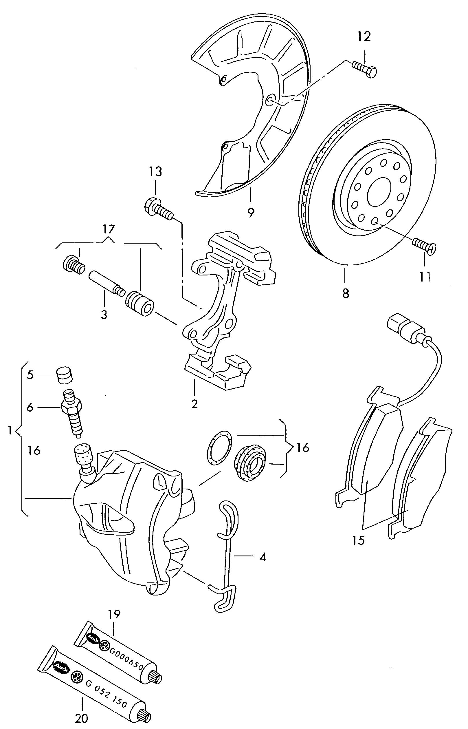 Volkswagen Passat Caliper Carrier Calliper Carrier Disc