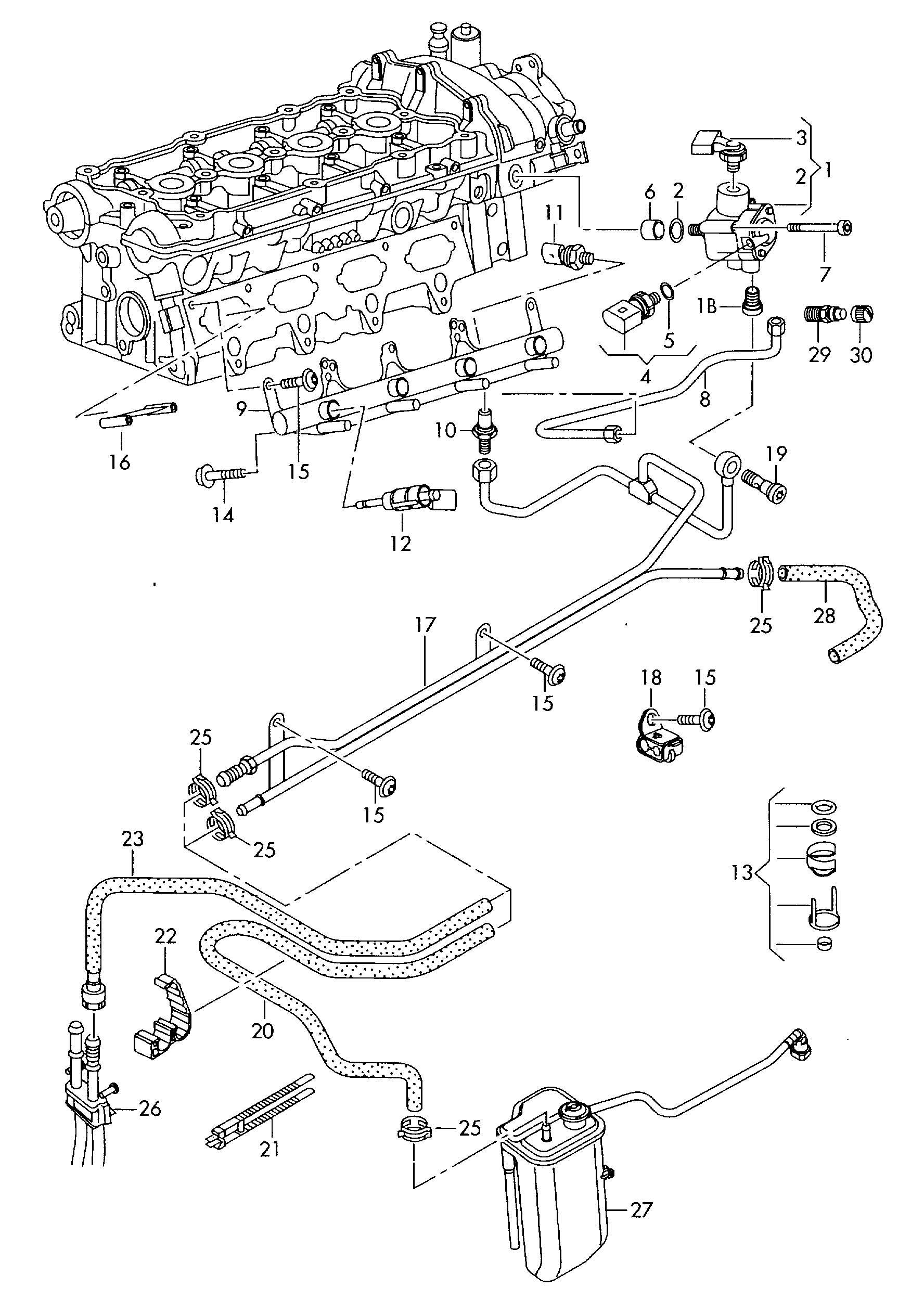 Volkswagen Passat Fuel Pump High Pressure Pump Fuel Rail