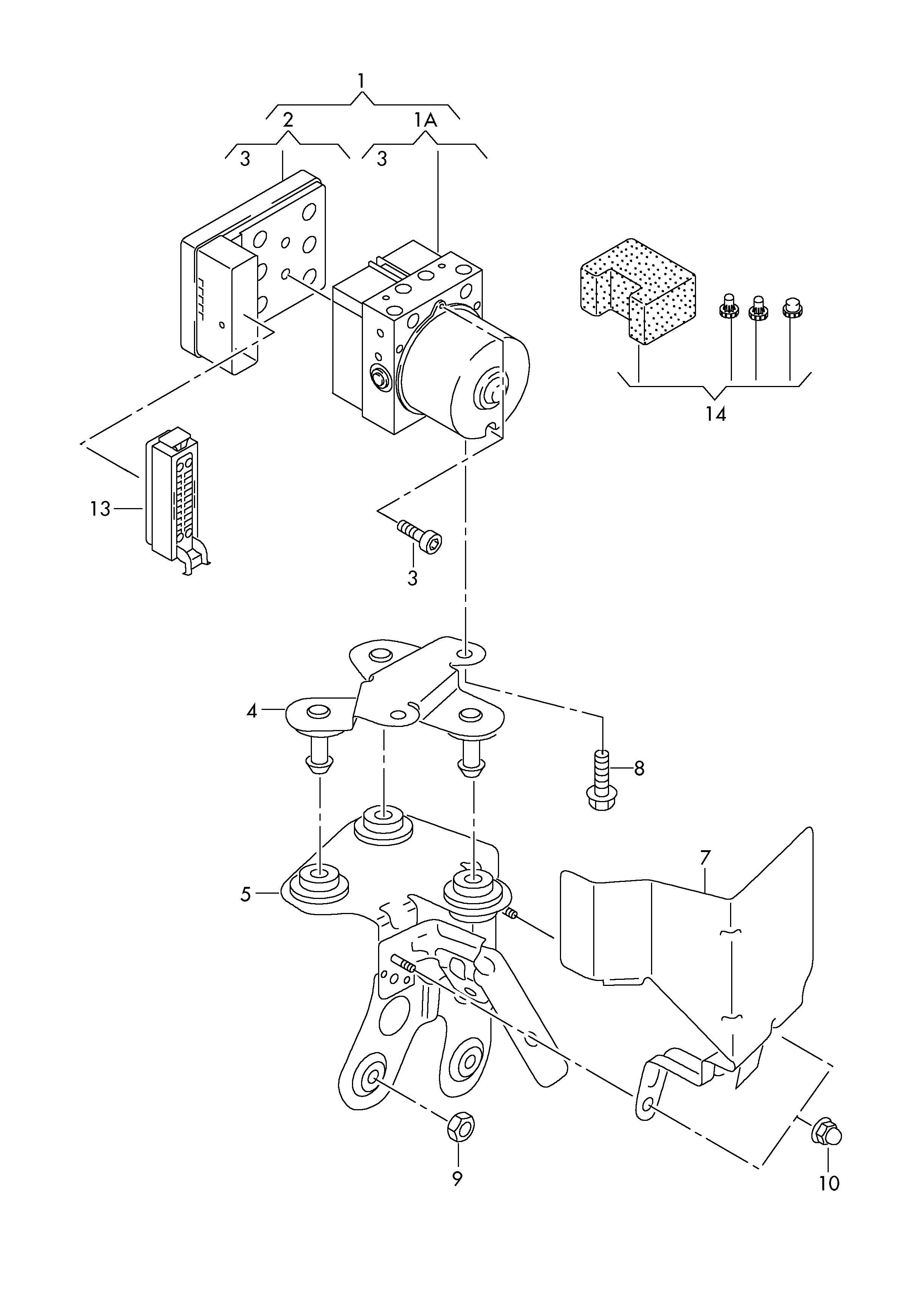 Volkswagen Rabbit Abs Control Module Connector Abs