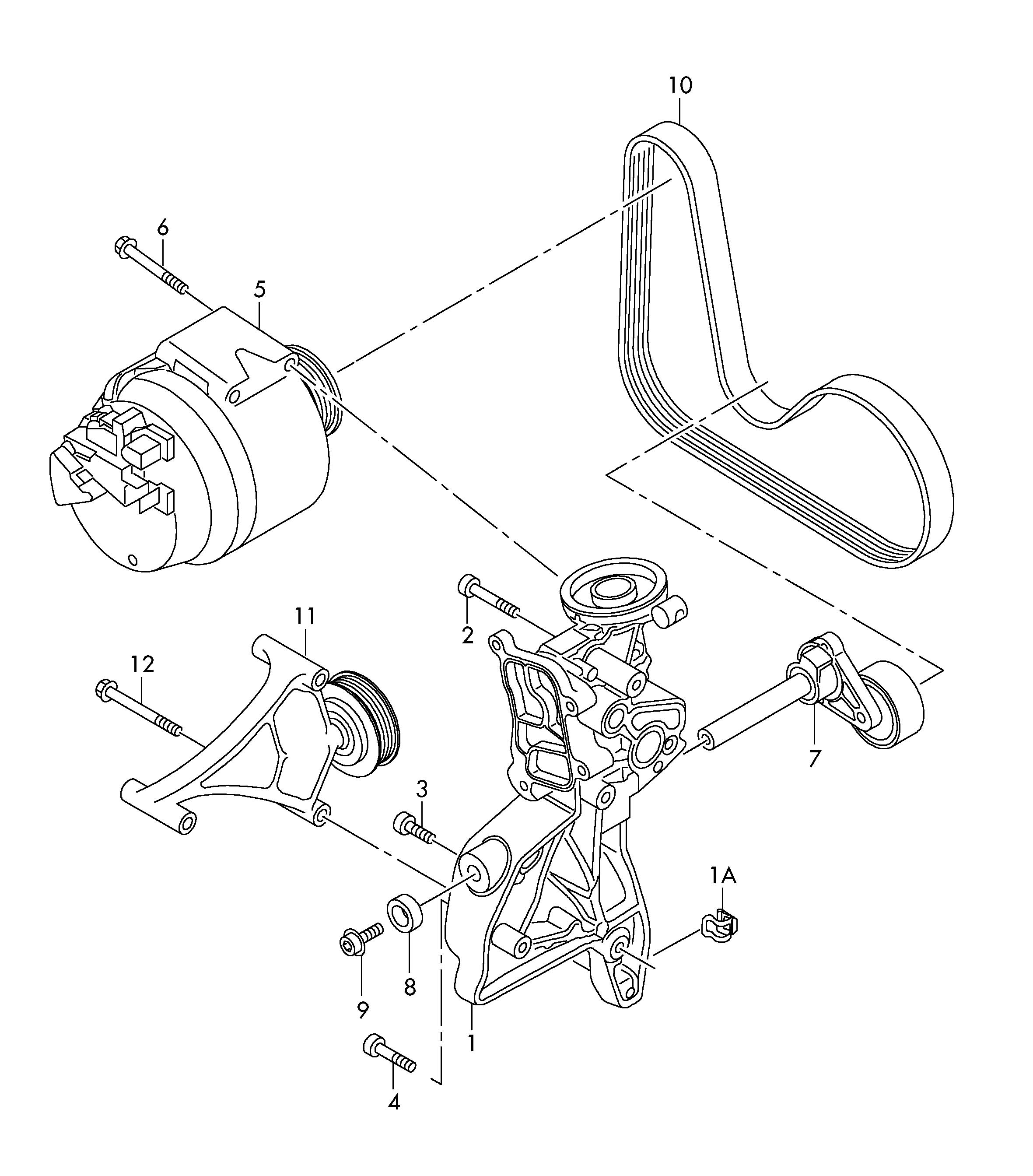 Volkswagen Golf Bracket For Generator And Also Use