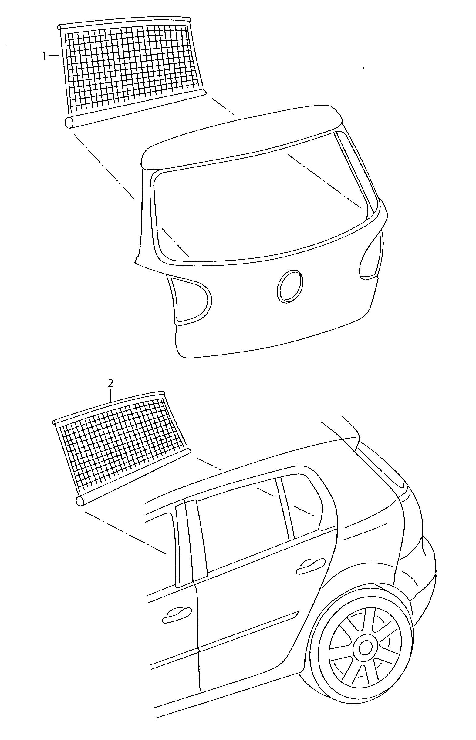 Volkswagen Tiguan Sun Shade Pop In For Hatch Window